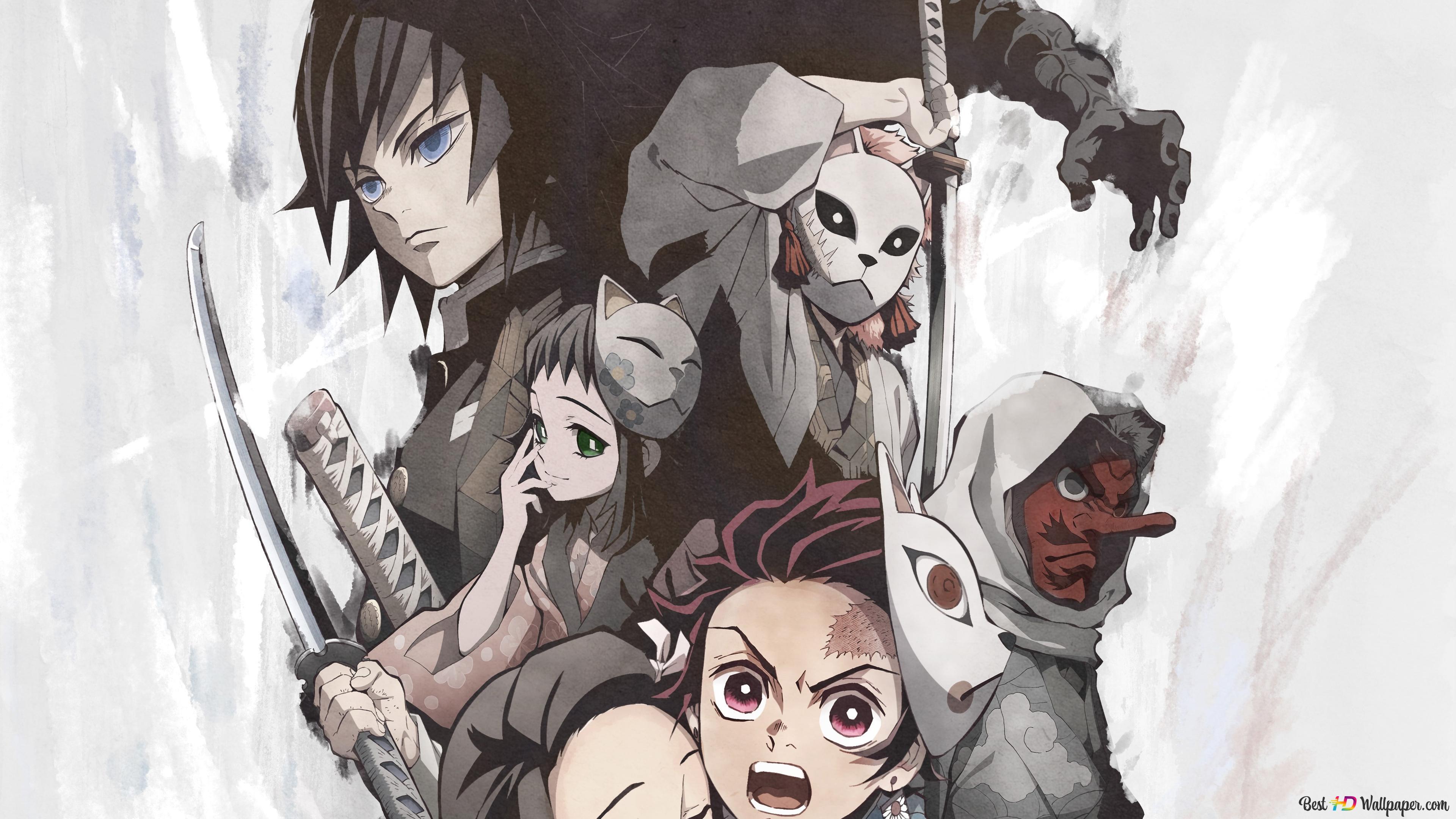 デーモンスレイヤーのアニメ Hd壁紙のダウンロード