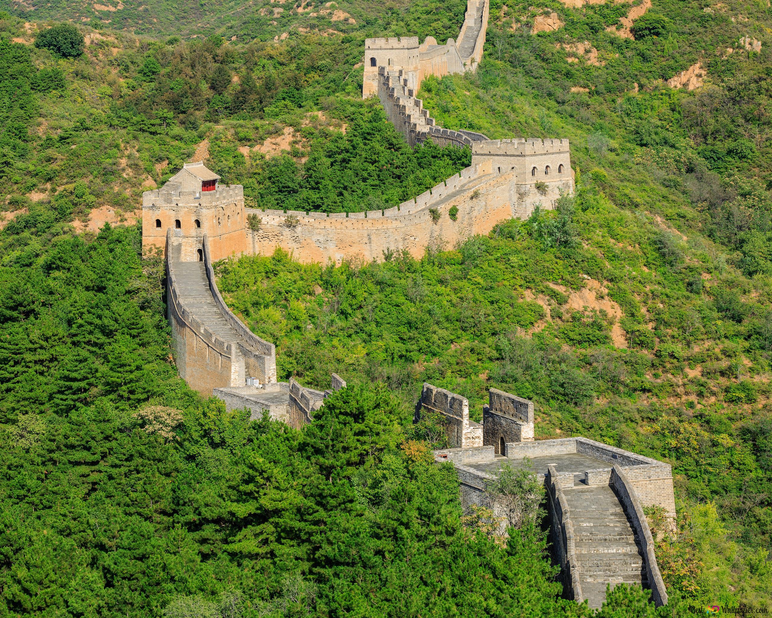 Den Kinesiske Mur Hd Tapet Download