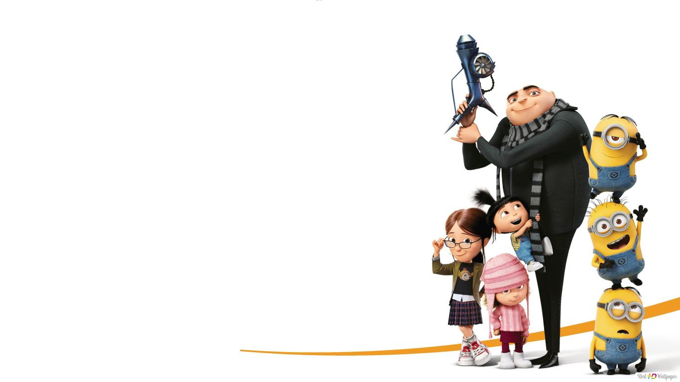 Despicable Me 3 Gru Minions And The Girls Hd Wallpaper Download