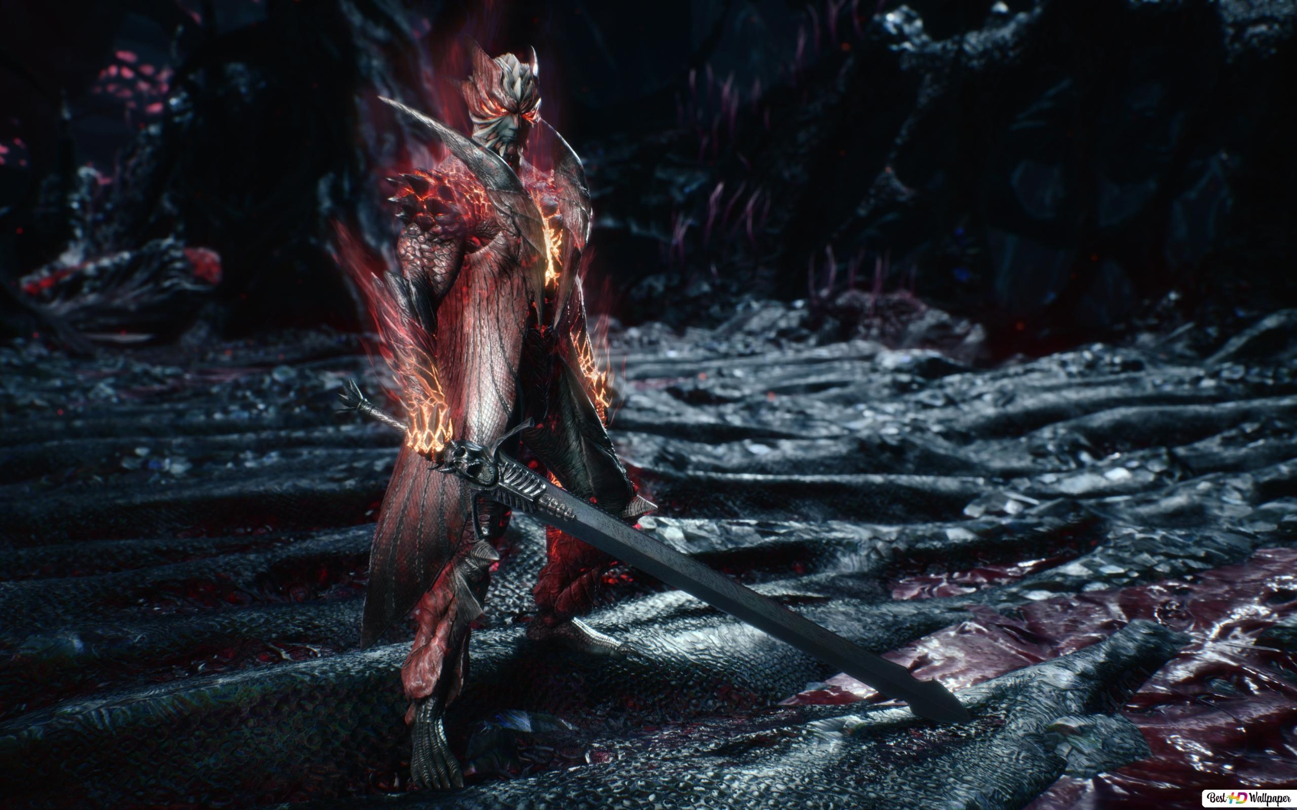 Devil May Cry 5 Dante Devil Trigger Rebellion Sword Hd Wallpaper