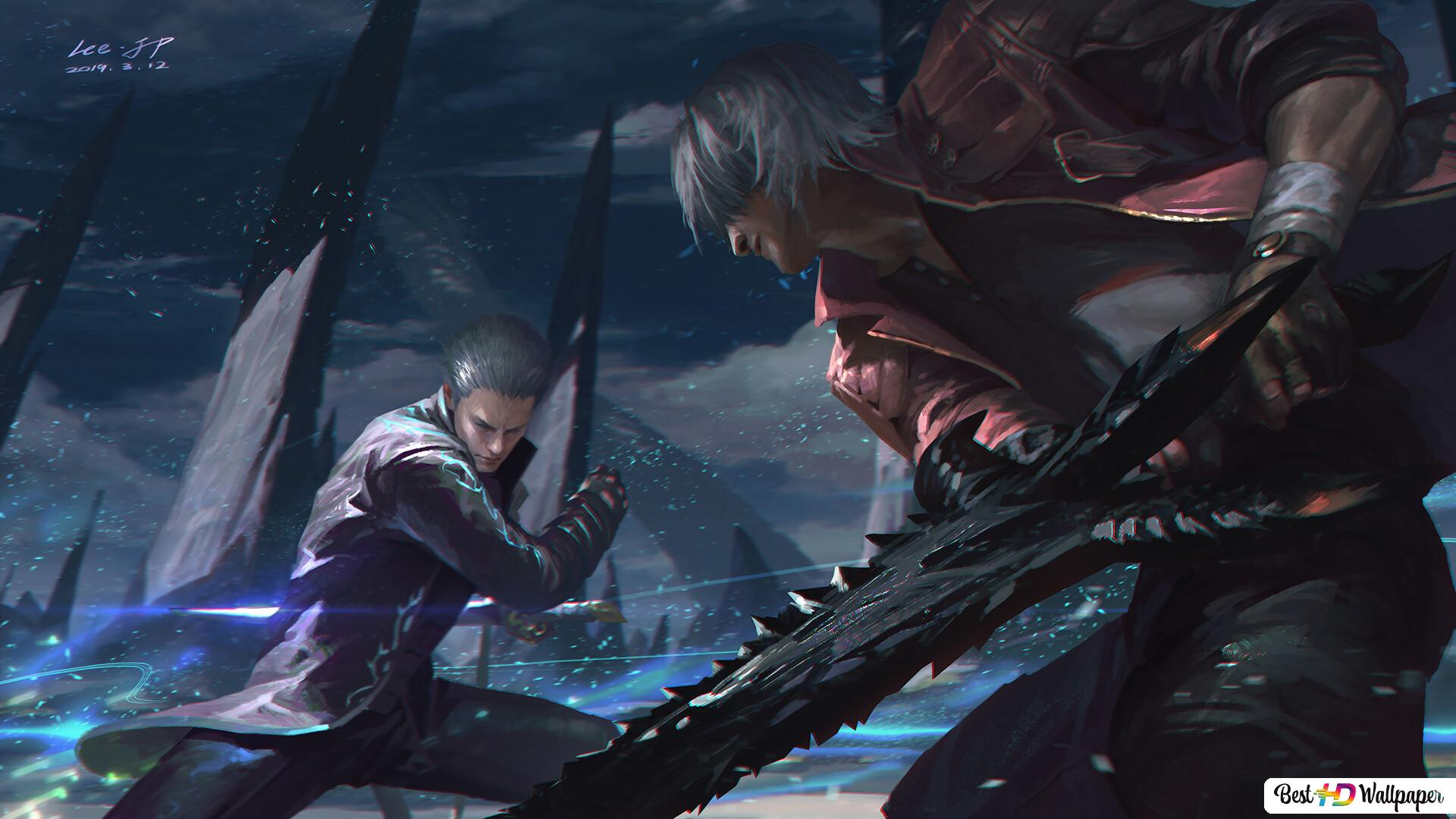 Devil May Cry 5 Vergil Vs Dante Hd Wallpaper Download