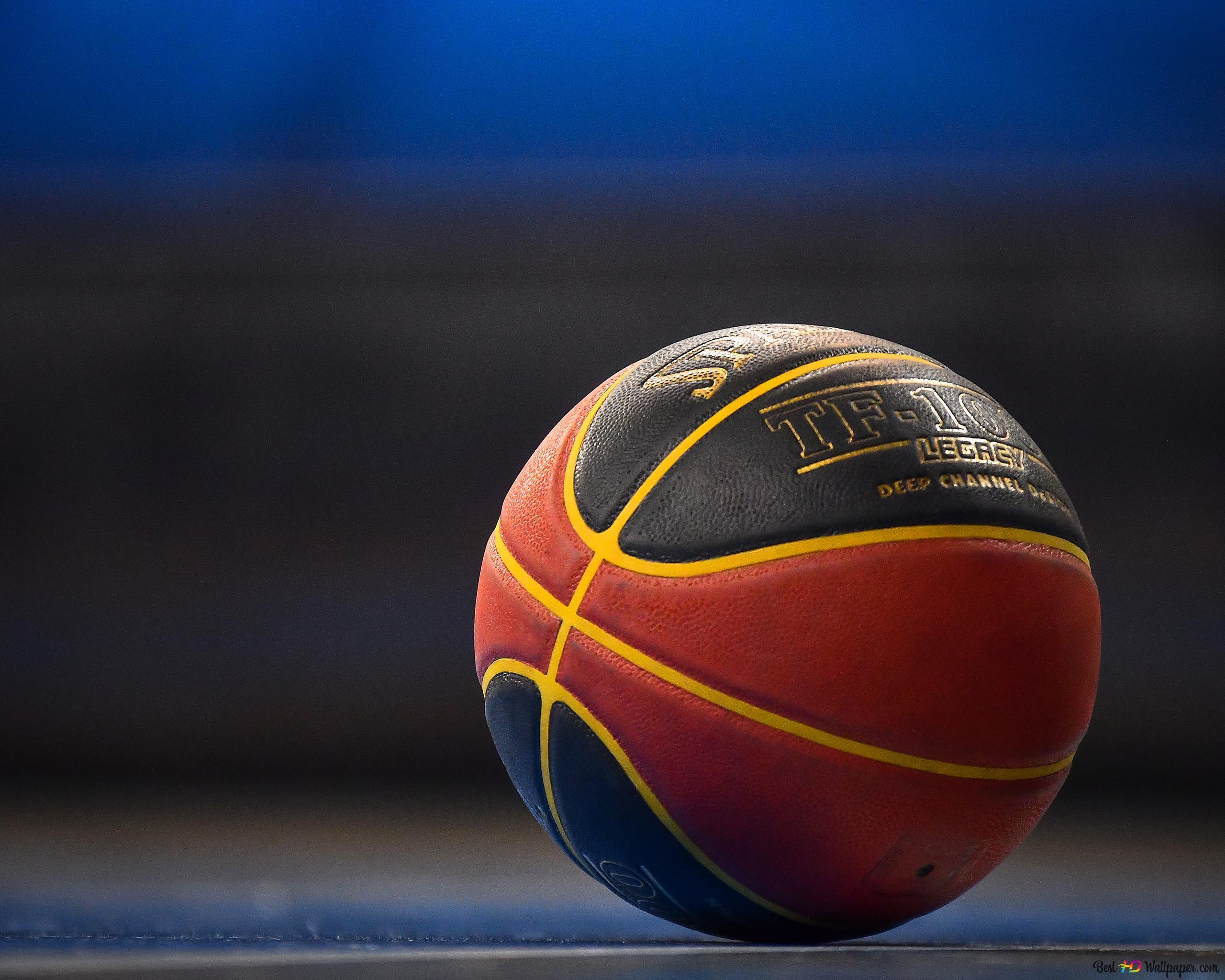 地面にバスケットボールボール Hd壁紙のダウンロード