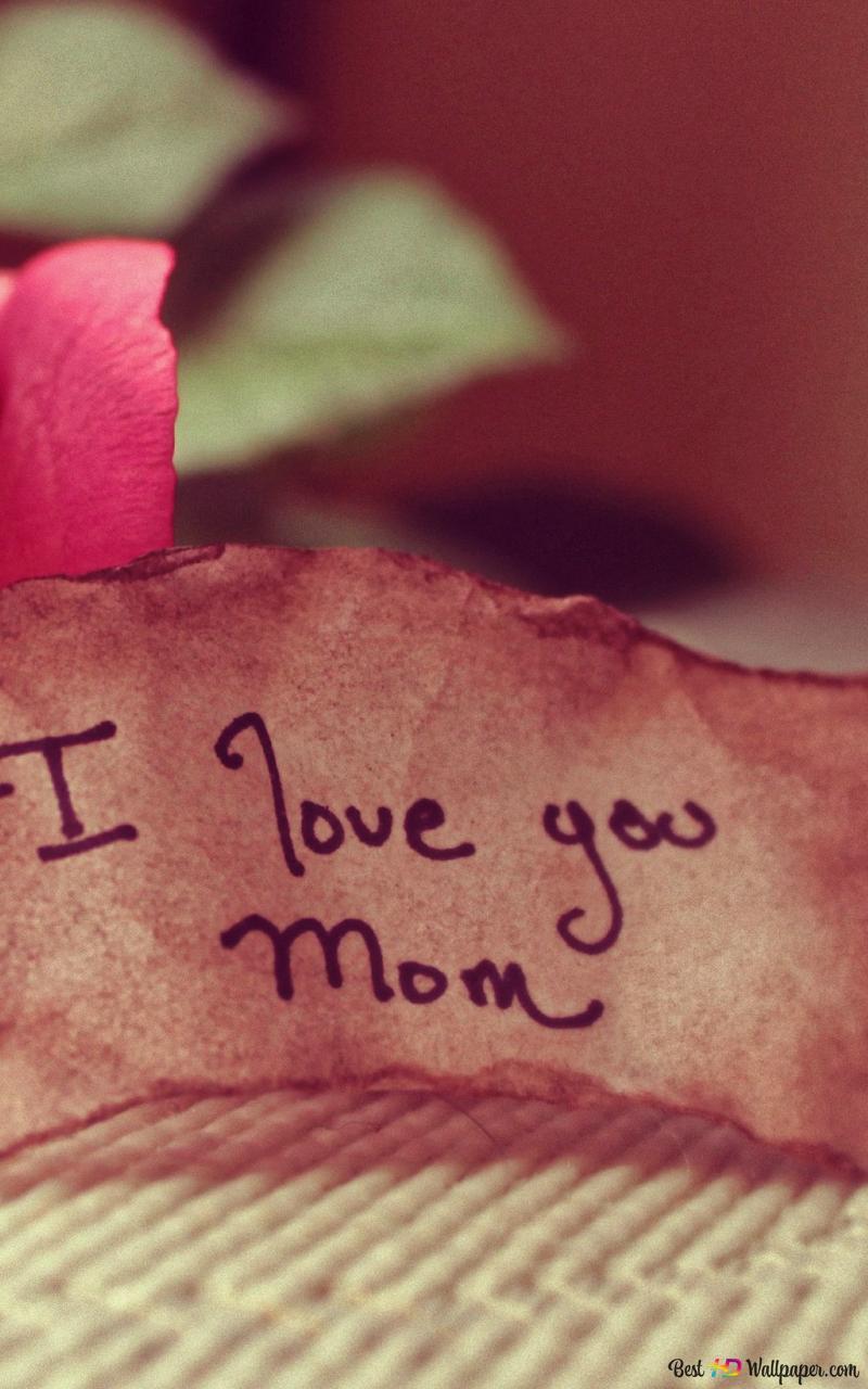 Descargar Fondo De Pantalla Día De La Madre Nota Te Amo Mama Hd