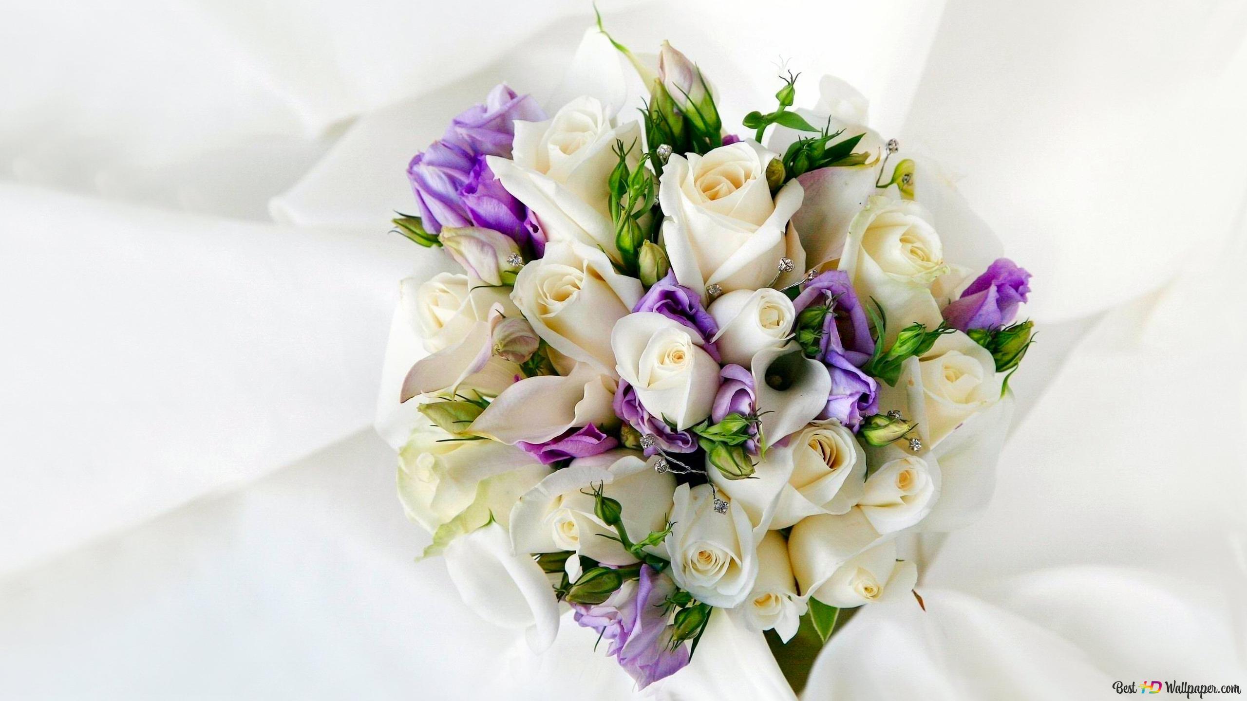 Descargar Fondo De Pantalla Día De San Valentín Rosas Blancas Ramo Hd