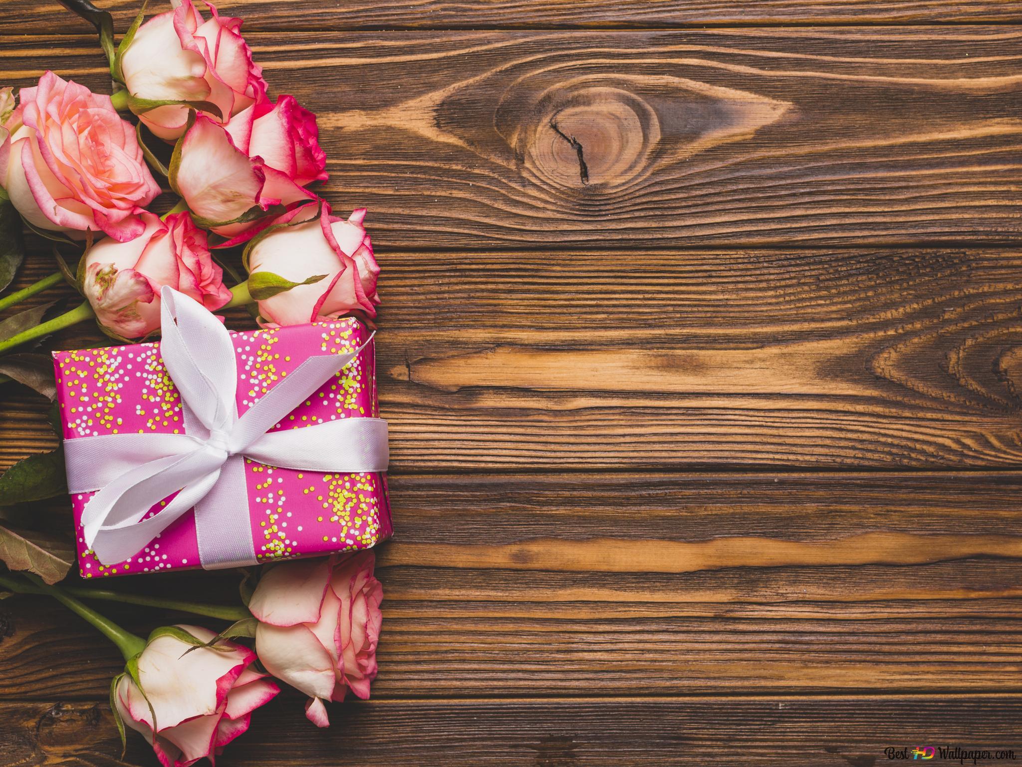 Descargar Fondo De Pantalla Día De San Valentín Rosas Blancas Y