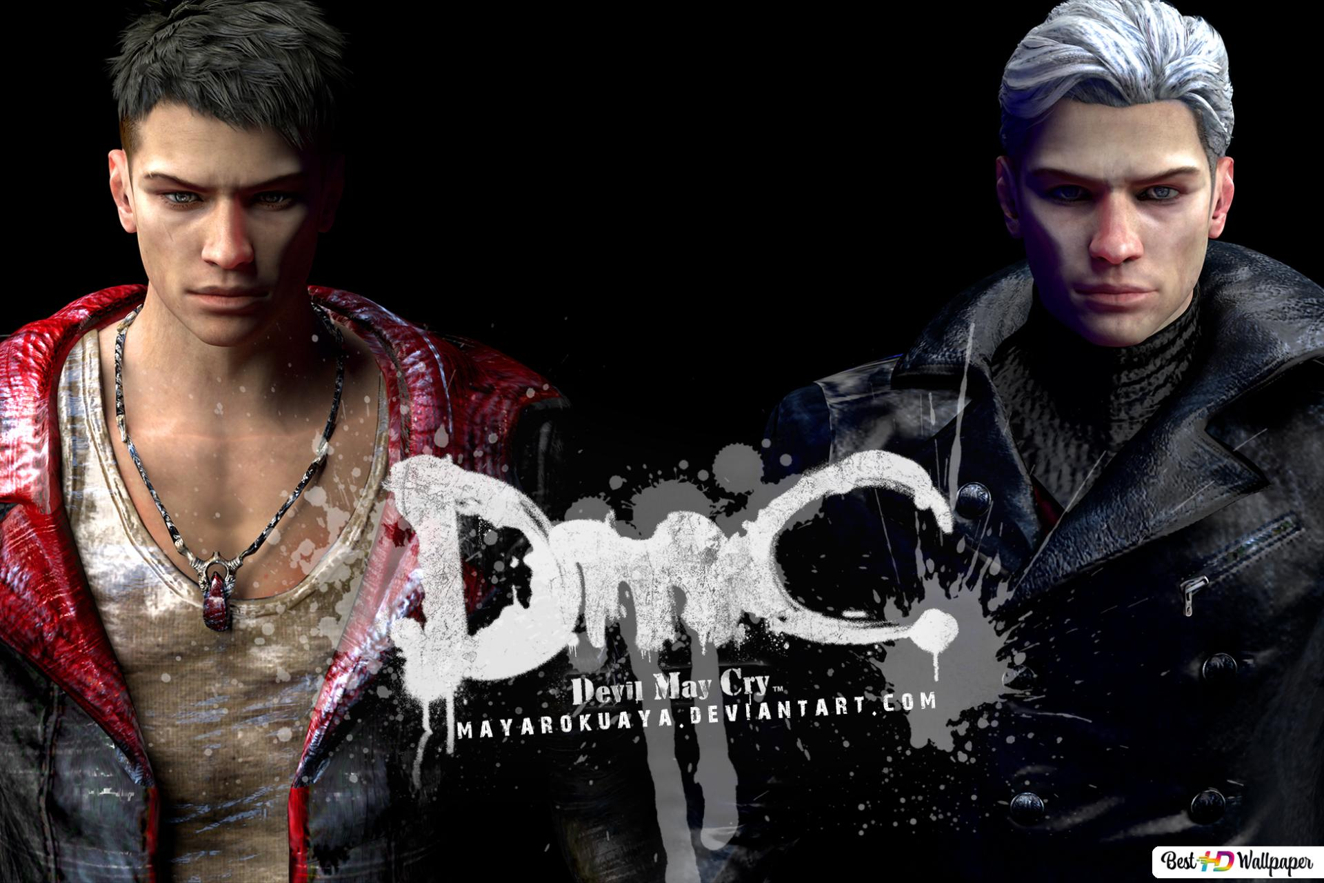 Dmc Devil May Cry Dante Vergil Hd Wallpaper Download