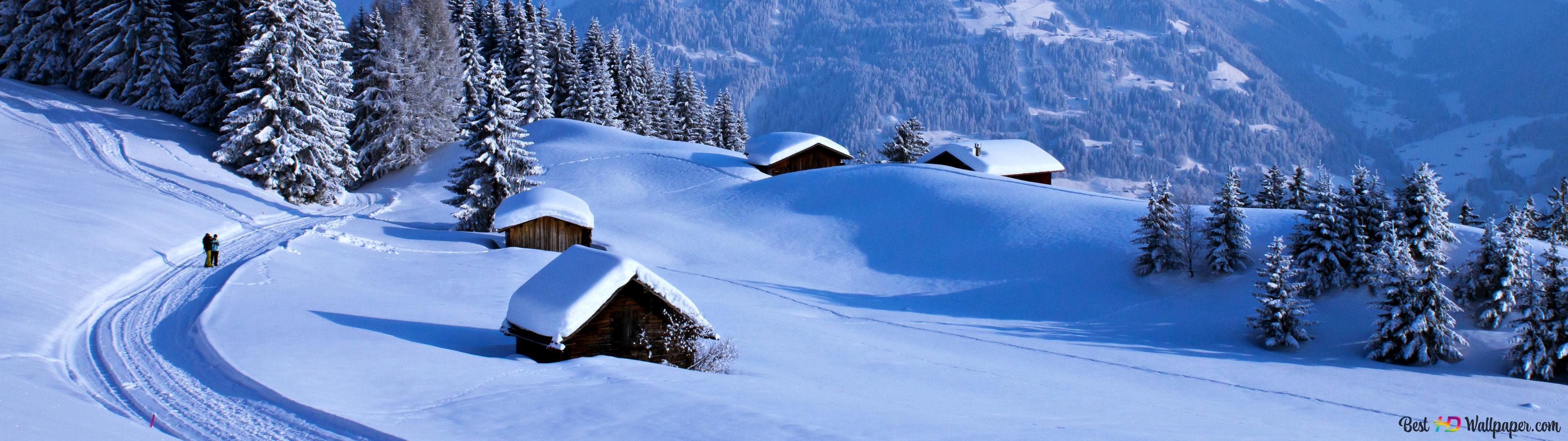冬の田園地方 Hd壁紙のダウンロード
