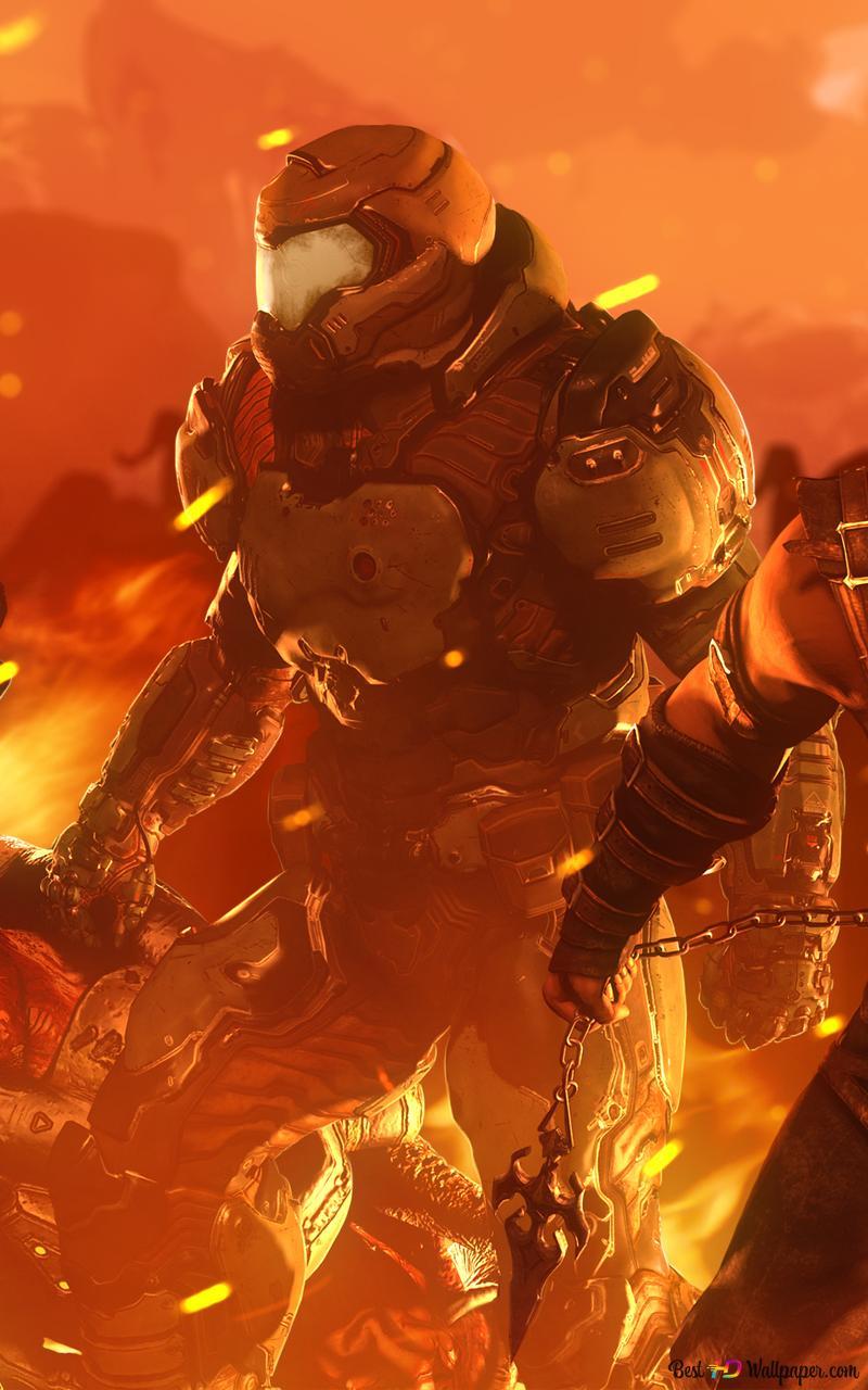 Doomslayer Vs Scorpion Hd Wallpaper Download