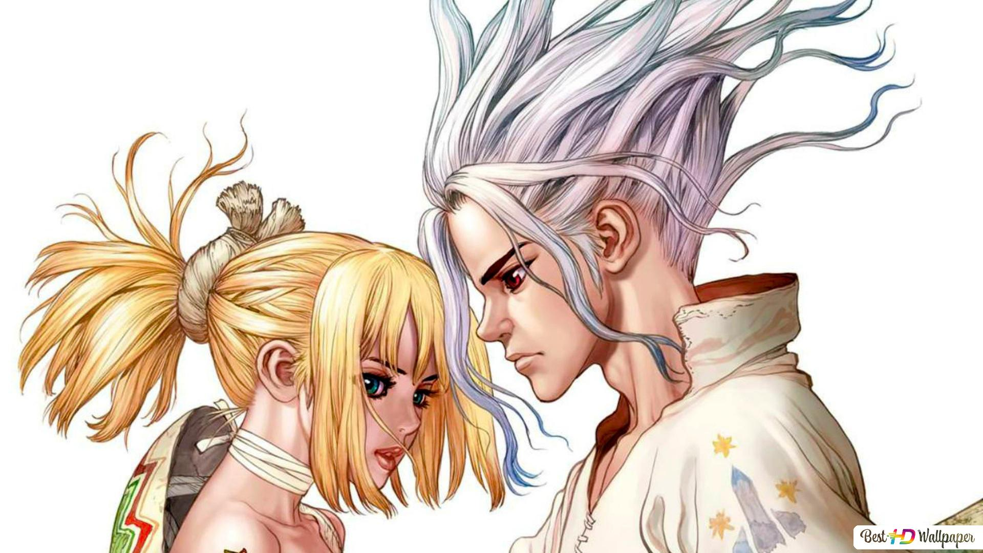 Dr Stone Kohaku Senku Ishigami Hd Wallpaper Download All art that is posted, must credit the original artist.if you post something that isn't yours, credit the original artist/source in the. dr stone kohaku senku ishigami hd