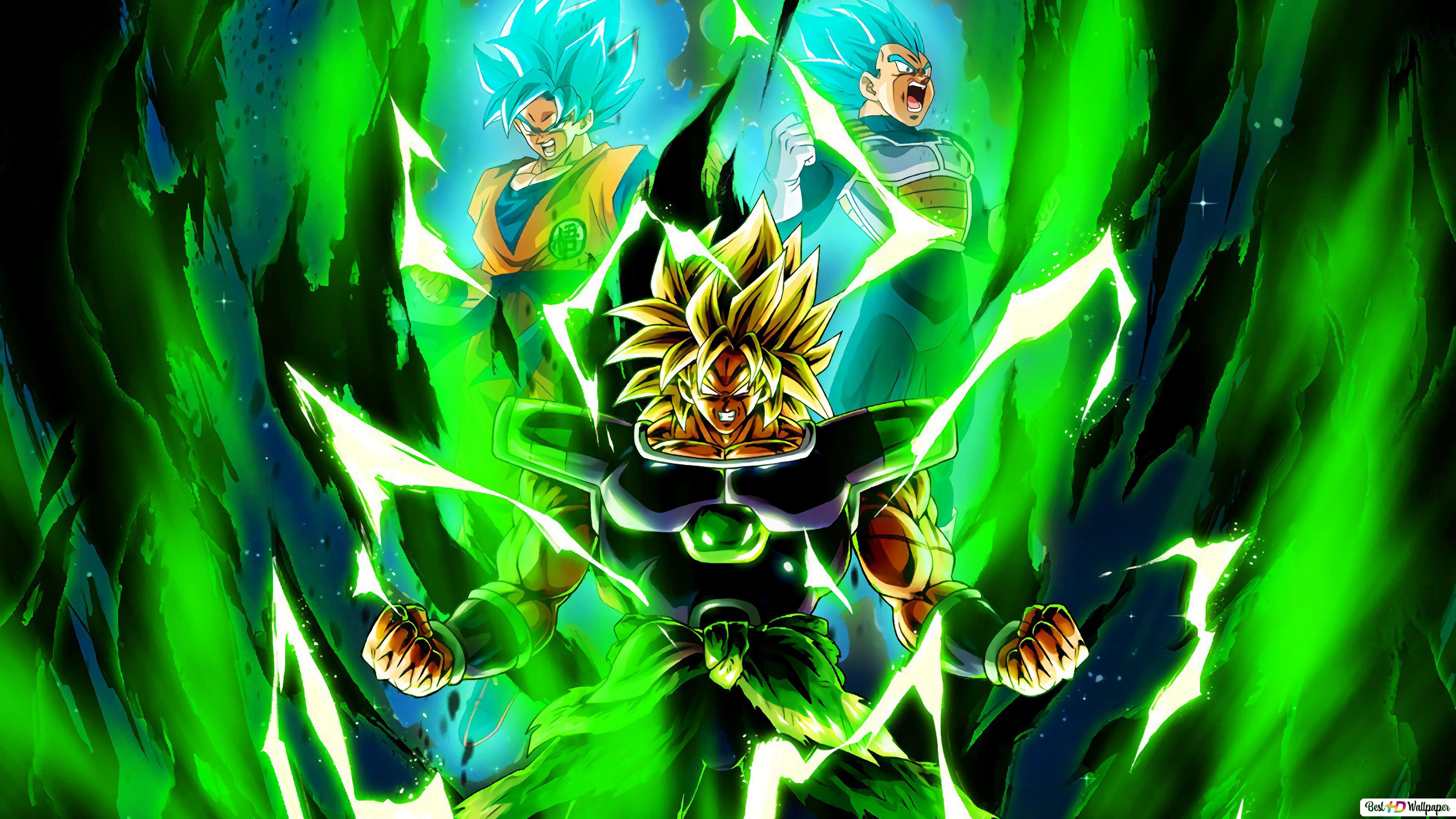 Dragon Ball Super Broly Movie Broly Goku Vegeta Hd Wallpaper