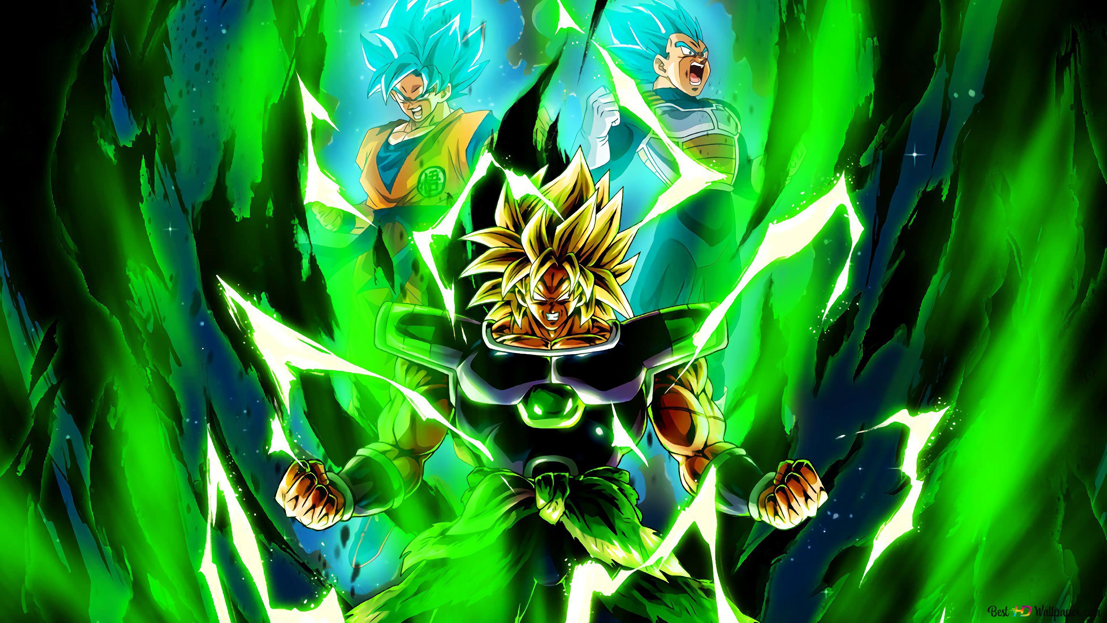 Dragon Ball Super Broly Movie Broly Goku Vegeta Hd Wallpaper