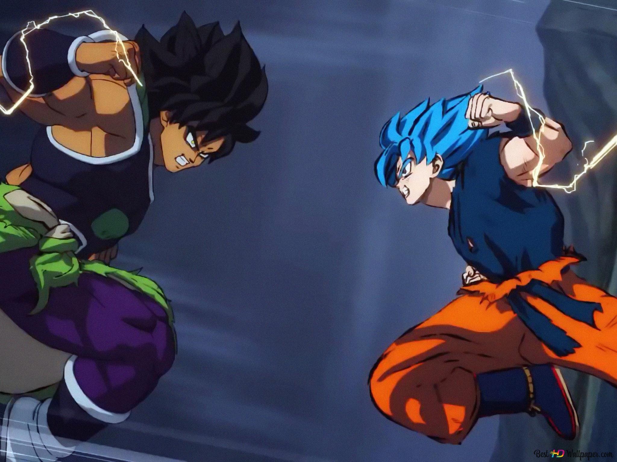 Dragon Ball Super Broly Movie Broly Vs Goku Hd Wallpaper Download