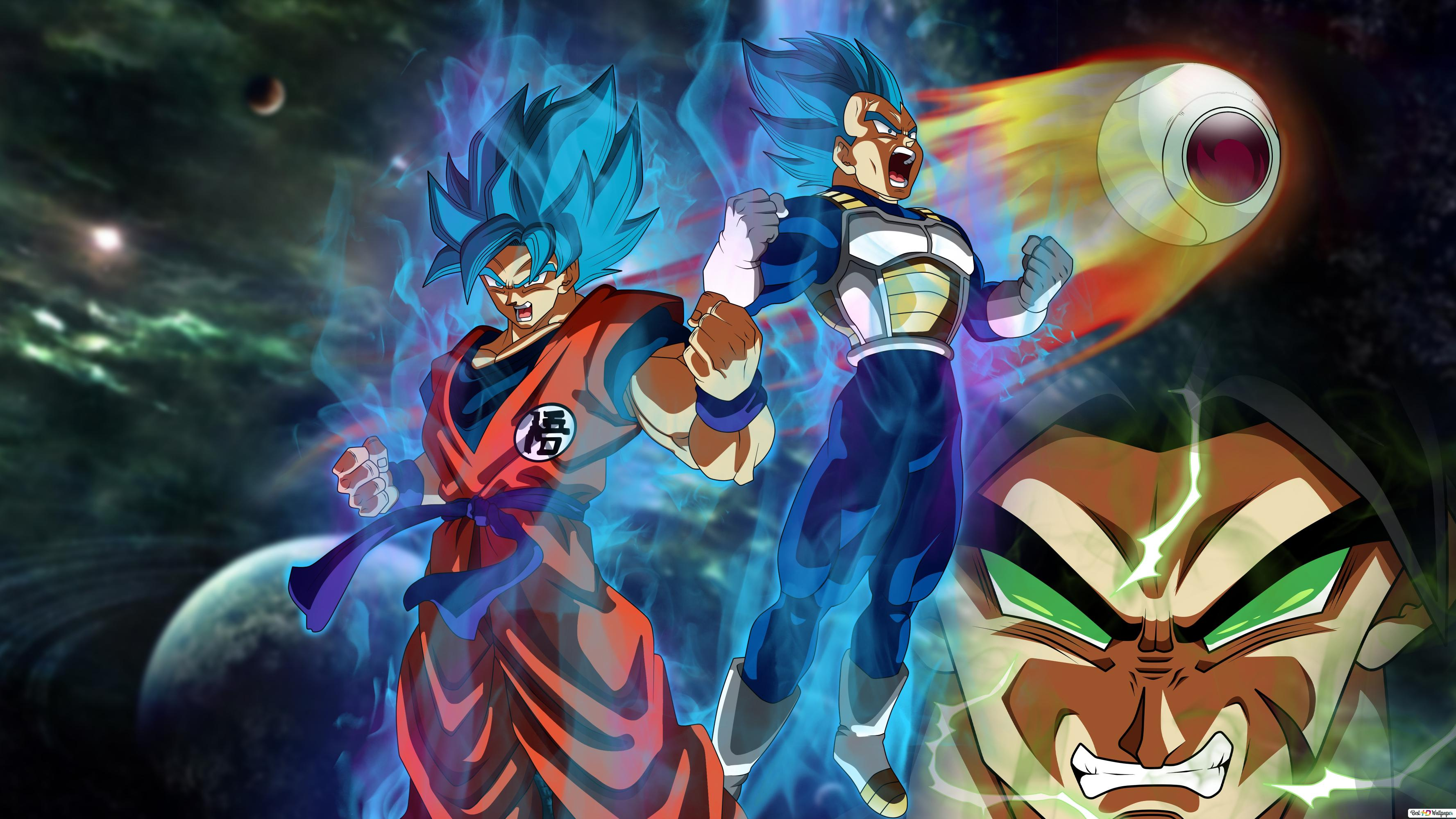 Dragon Ball Super Broly Movie Goku Vegeta Broly Hd Wallpaper Download