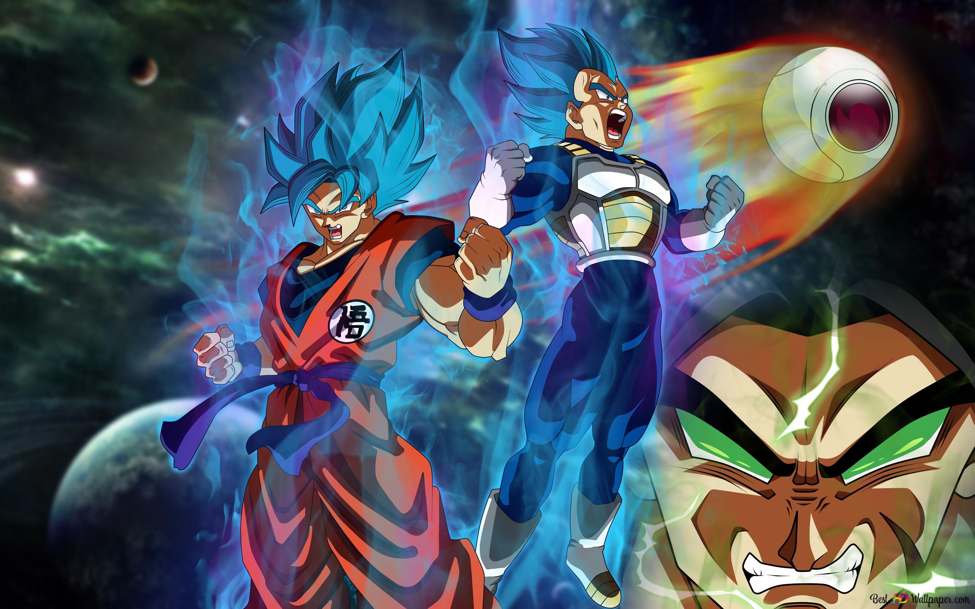 Dragon Ball Super Broly Movie Goku Vegeta Broly Unduhan Wallpaper Hd