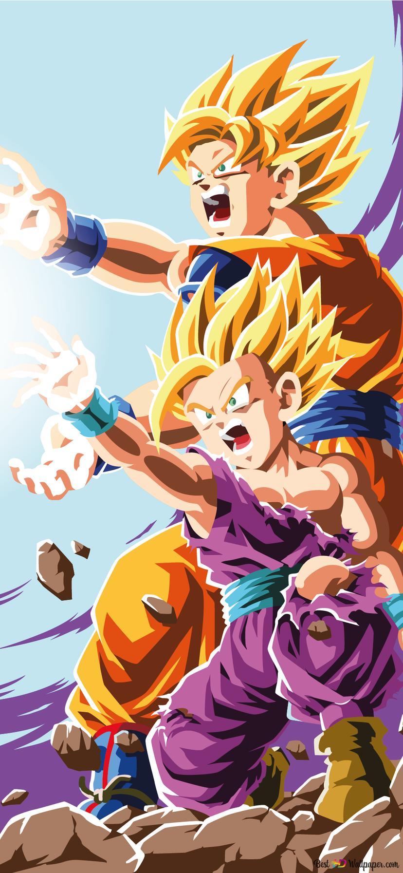Dragon Ball Z Gohan Goku Hd Wallpaper Download