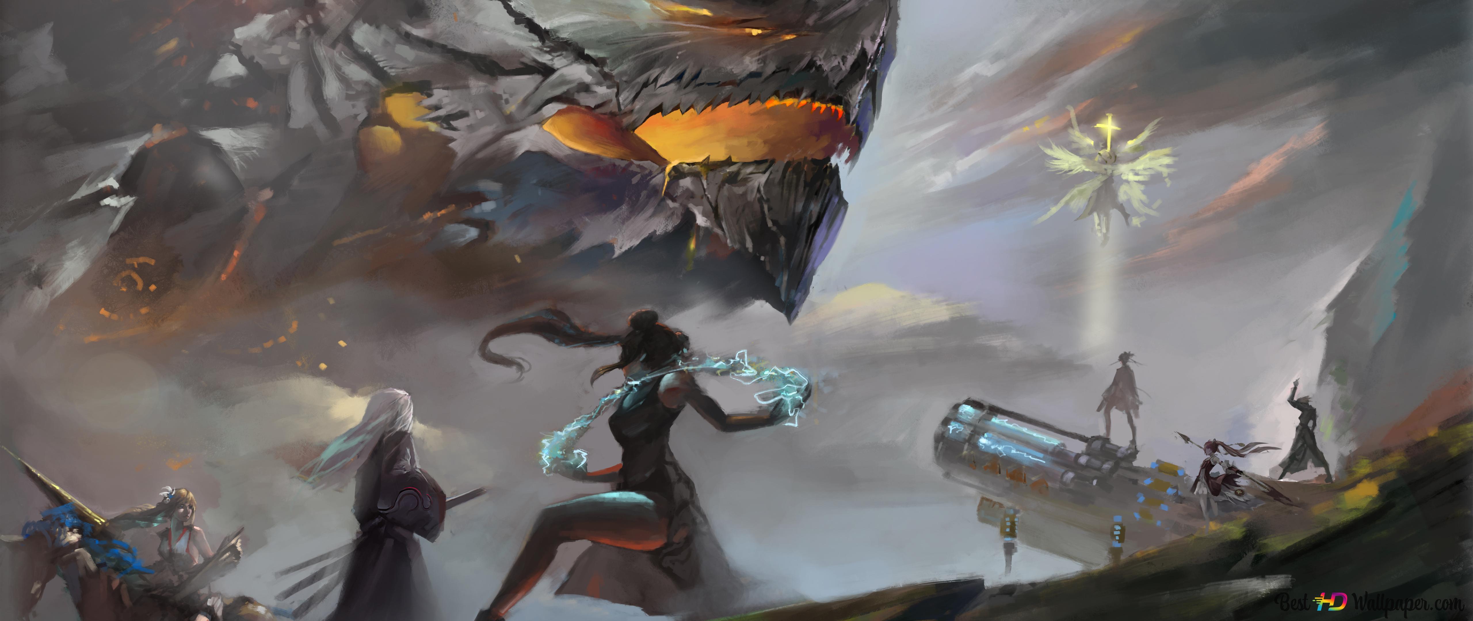 Dungeon Fighter Online Dragon Battle Hd Wallpaper Download