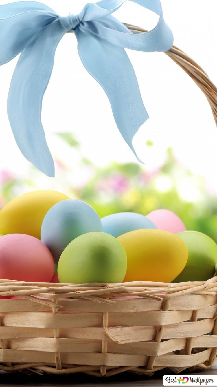 Easter Eggs In The Basket Hd Wallpaper Download