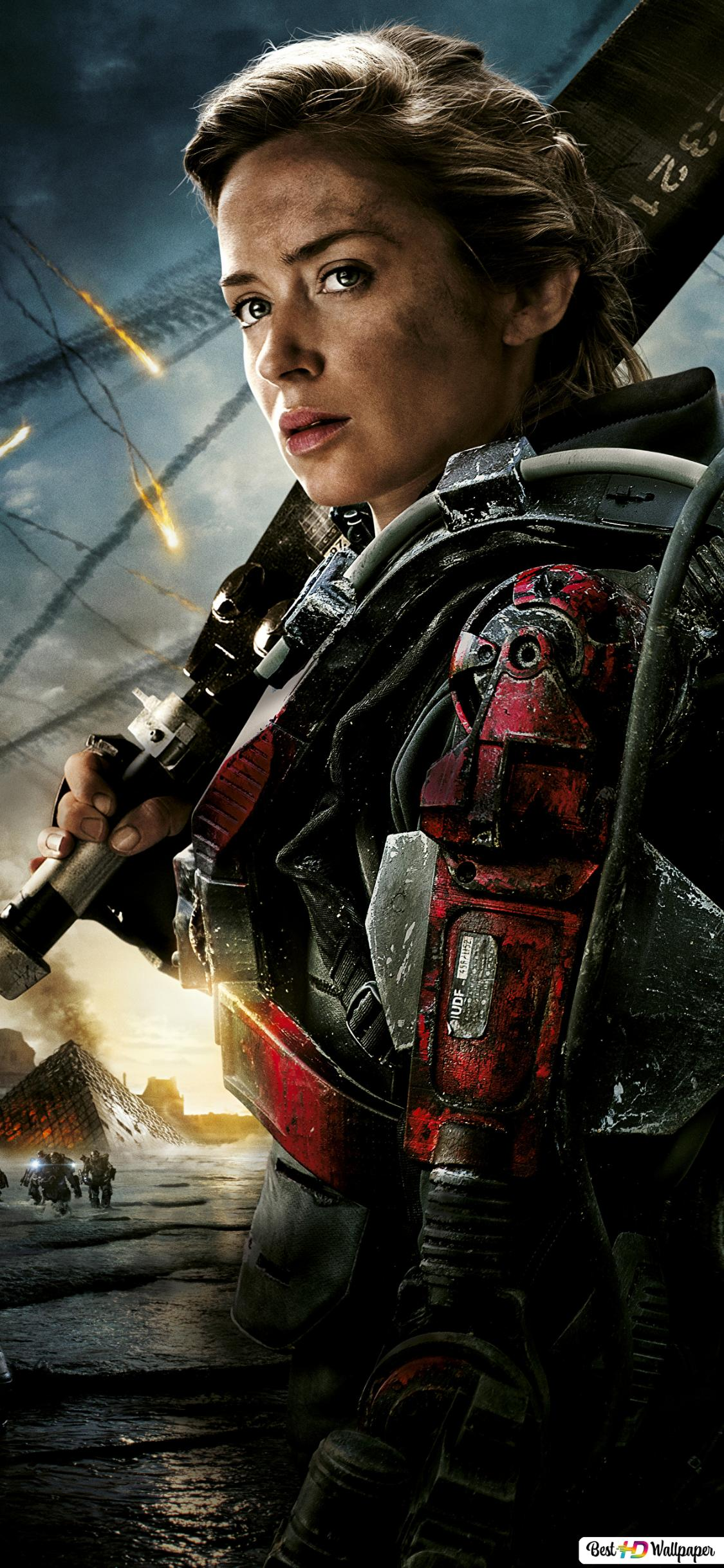 Edge Of Tomorrow Emily Blunt As Rita Vrataski Hd Wallpaper Download