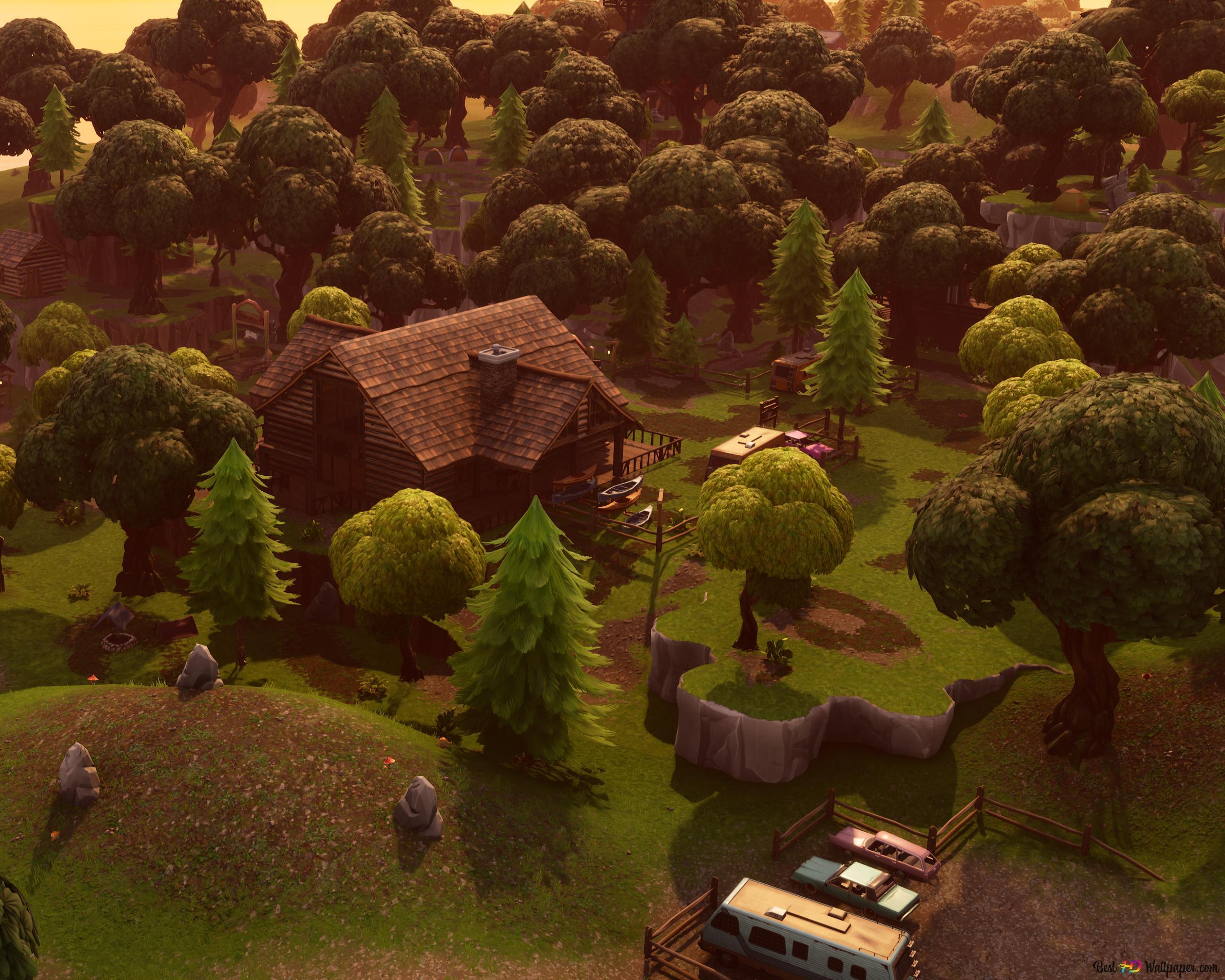 Einsamer Lodge 4k Fortnite Hd Hintergrundbilder Herunterladen