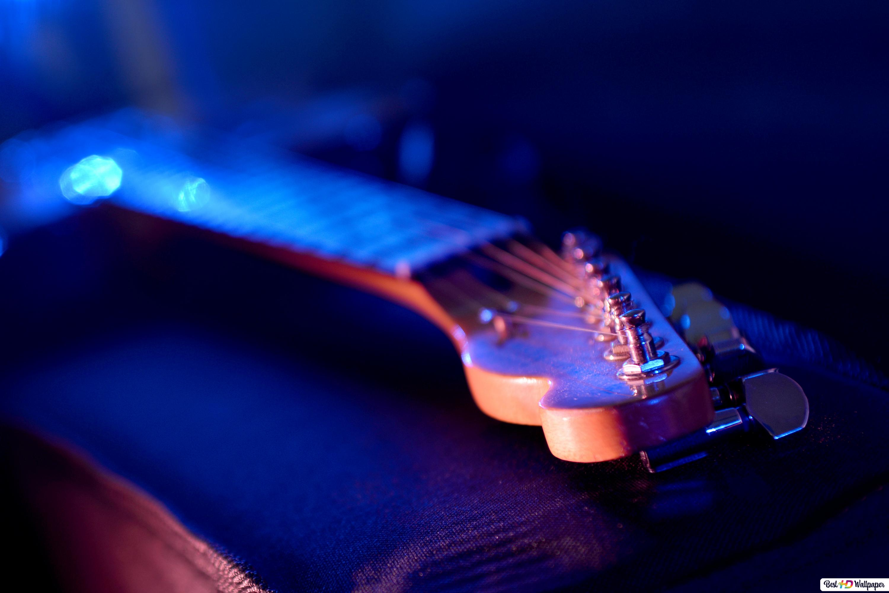 Electric Guitar On Stage Hd Wallpaper Download