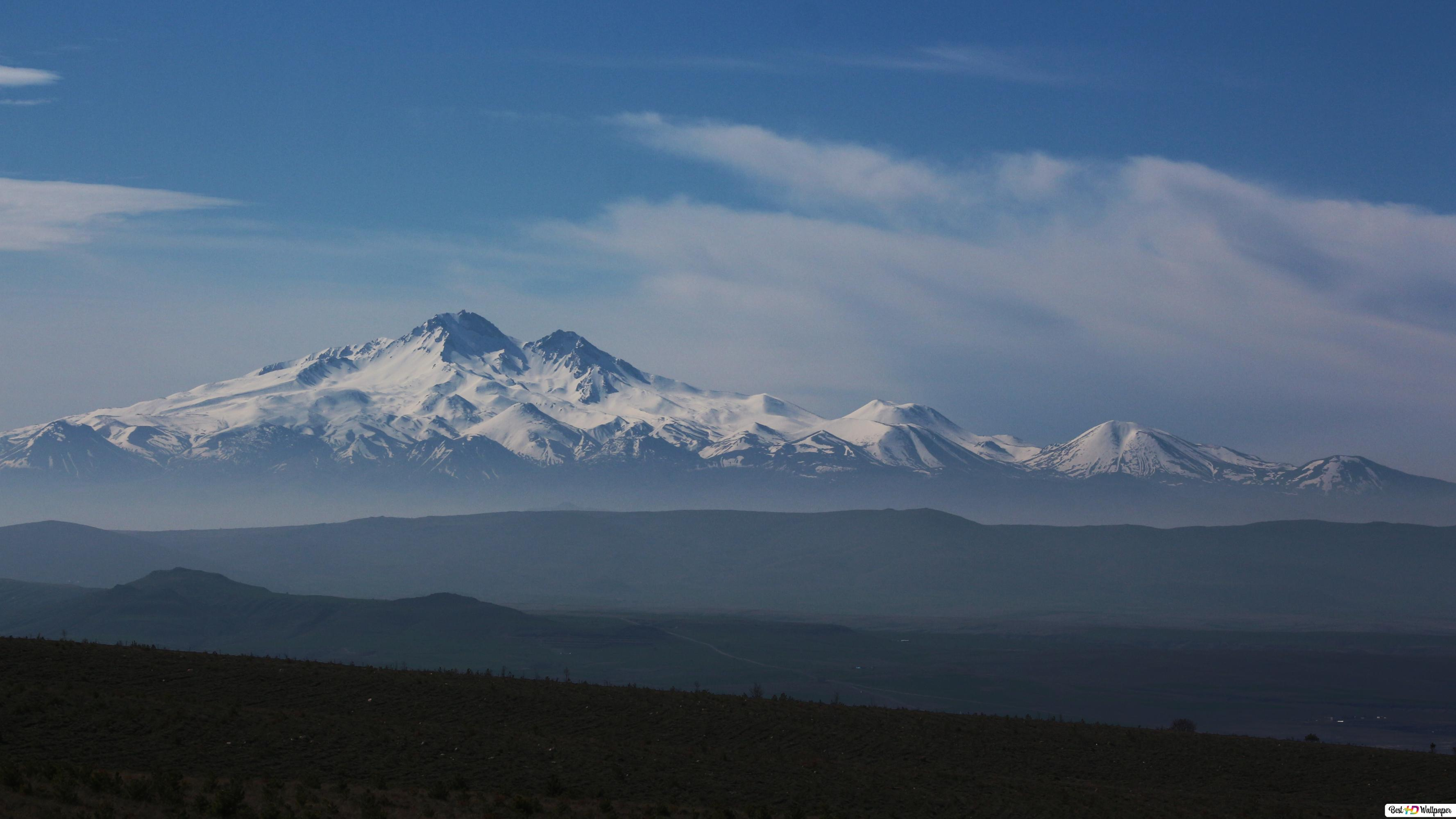 Erciyes Berg Hd Hintergrundbilder Herunterladen
