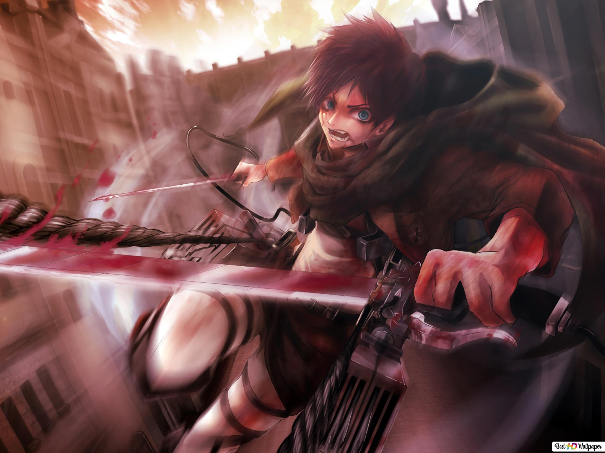 Eren Yeager Attack On Titan Hd Wallpaper Download
