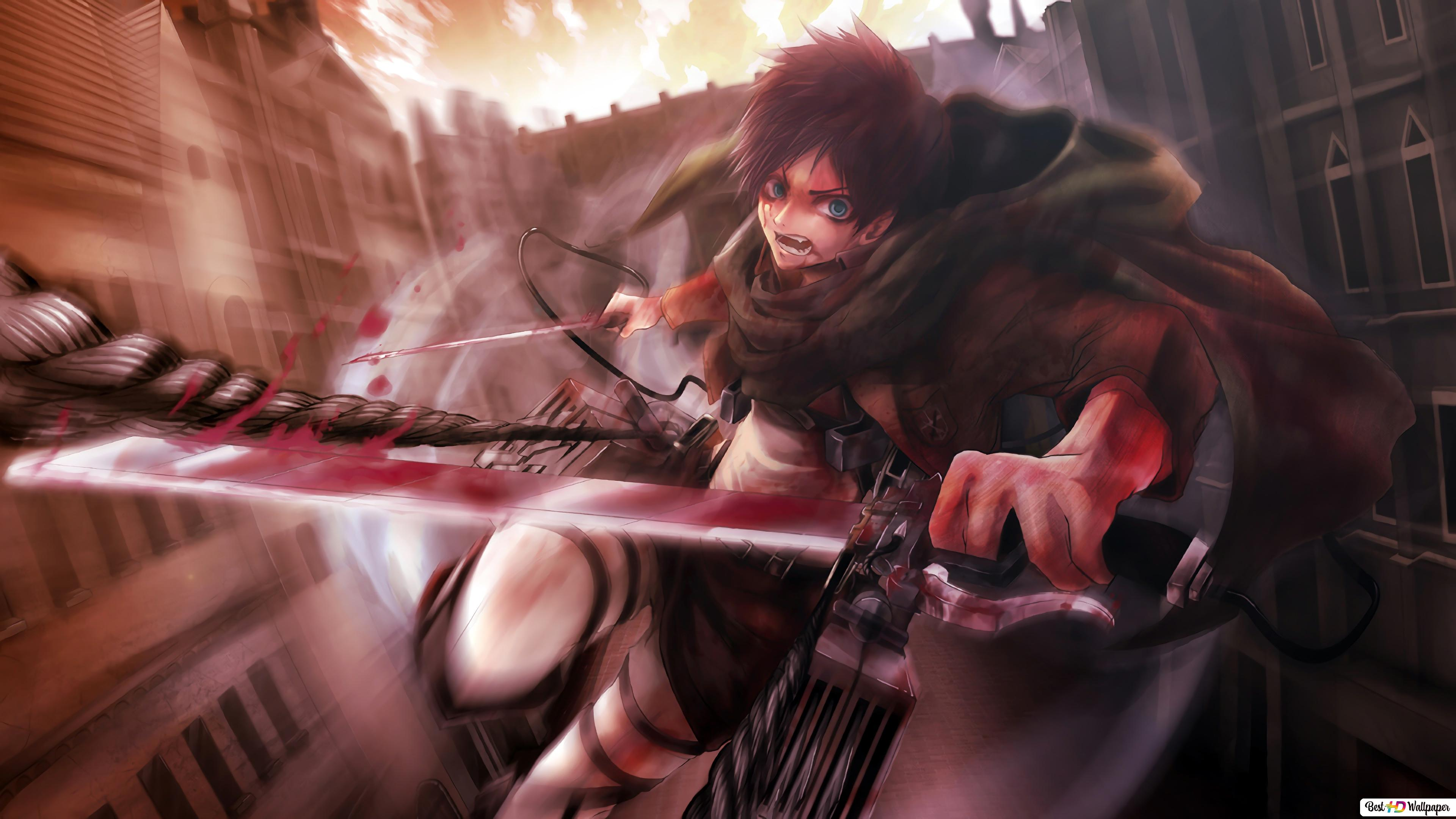 Eren Yeager Attack On Titan Hd Wallpaper Download