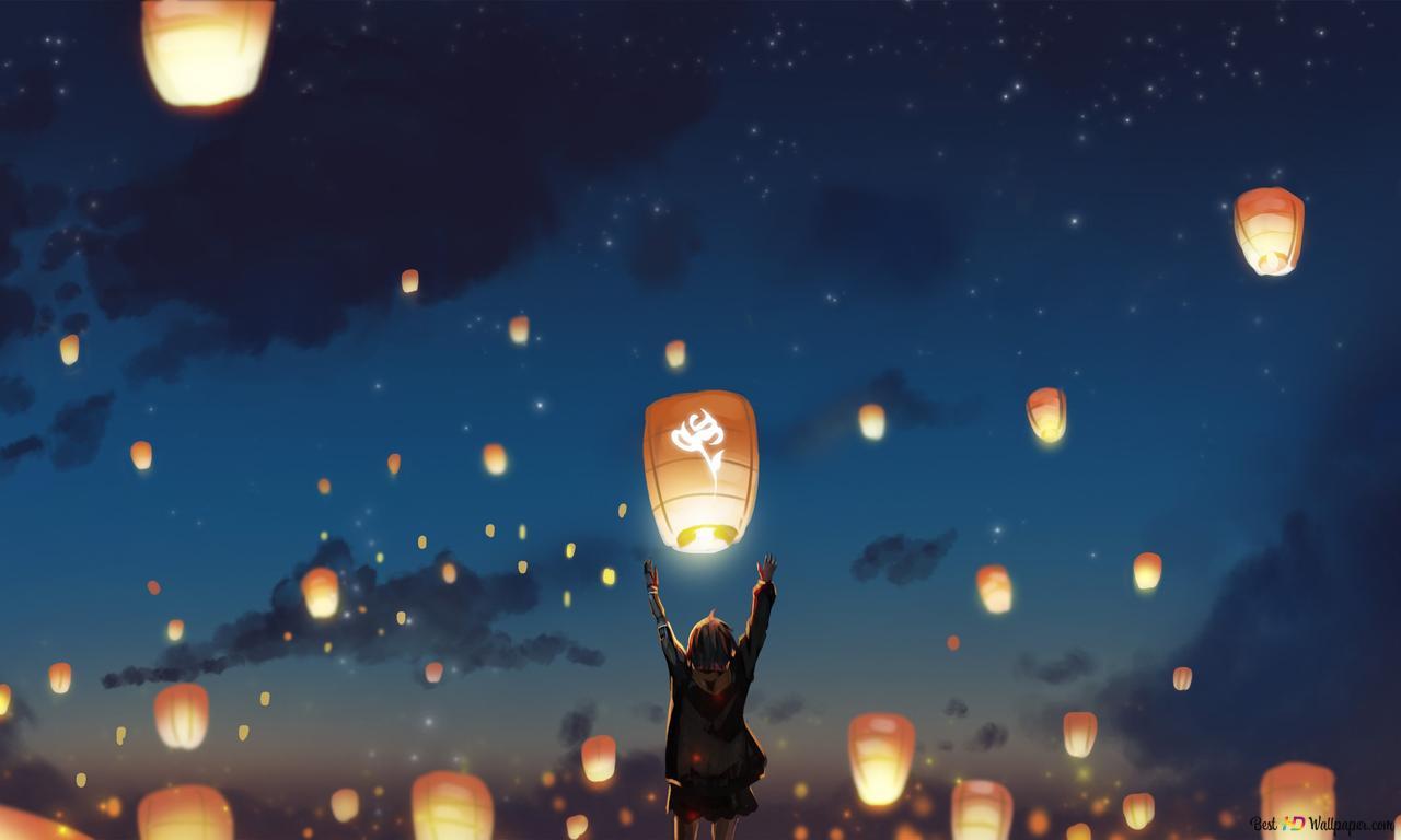 Descargar Fondo De Pantalla Eternal Japanese Lanterns Hd