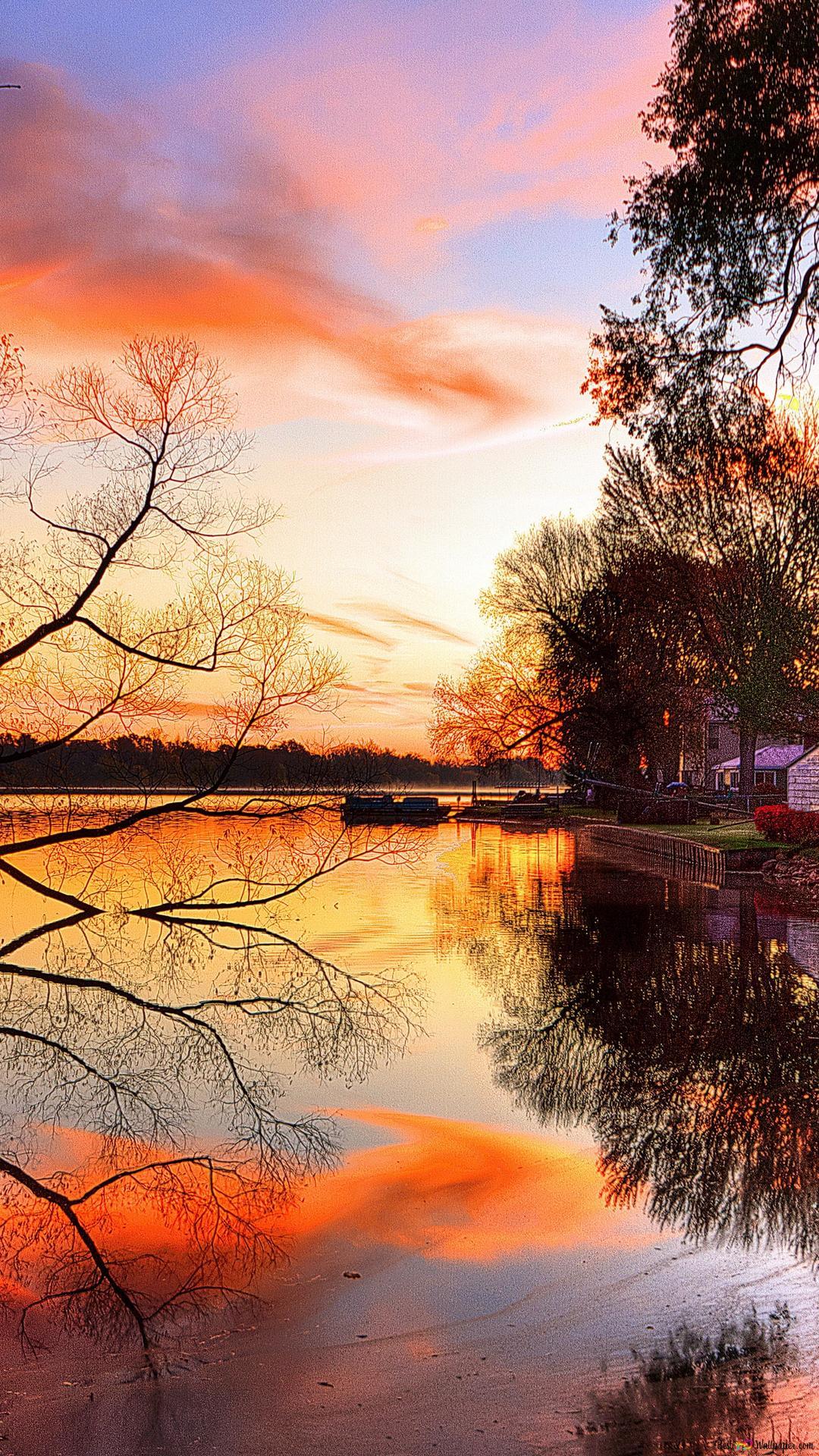 Evening Lake View Hd Wallpaper Download