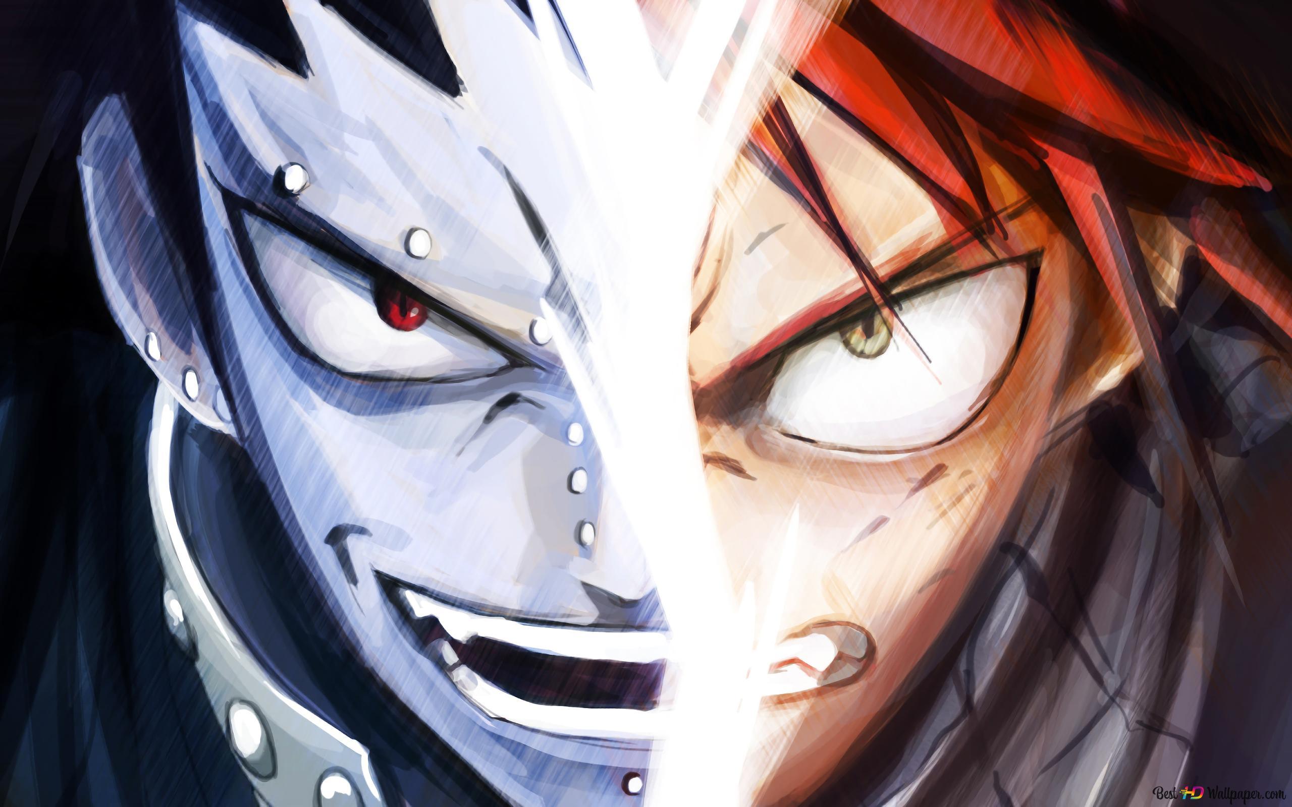 Fairy Tail Gajeel Redfox Vs Natsu Dragneel Hd Wallpaper Download