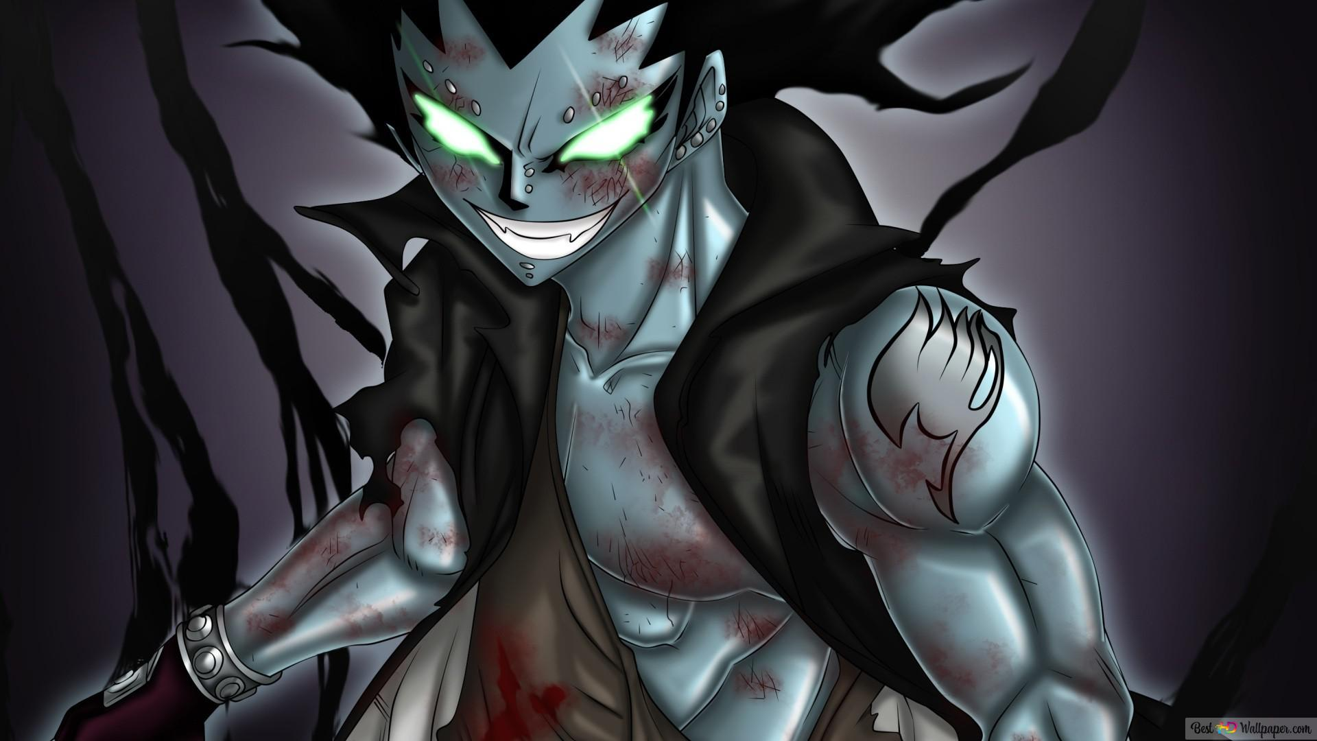 Fairy Tail Gajeel Shadow Iron Dragon Hd Wallpaper Download