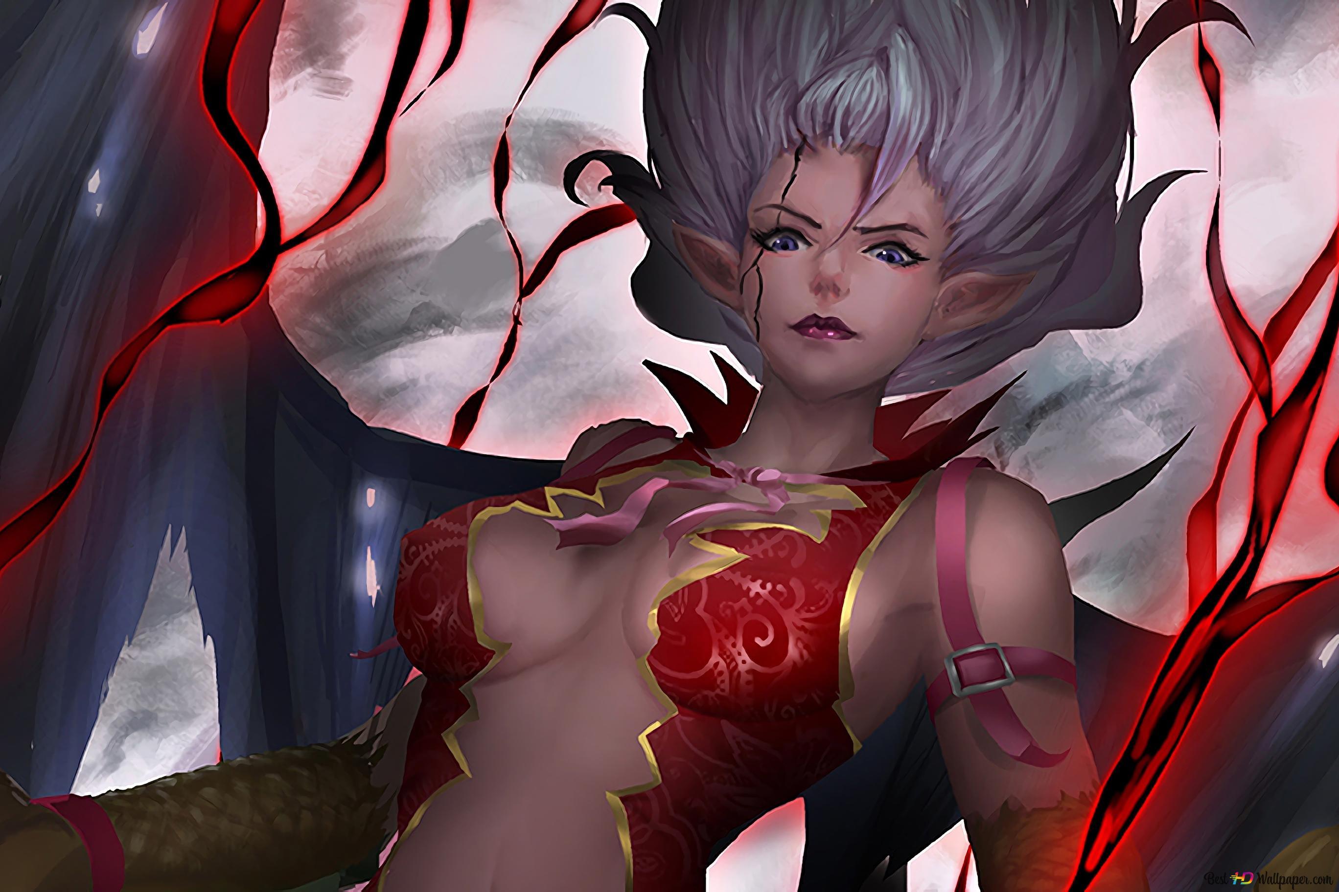 Fairy Tail Mirajane Strauss Satan Soul Hd Wallpaper Download Mirajane strauss, daughter of the renowned pro hero kemono strauss. fairy tail mirajane strauss satan