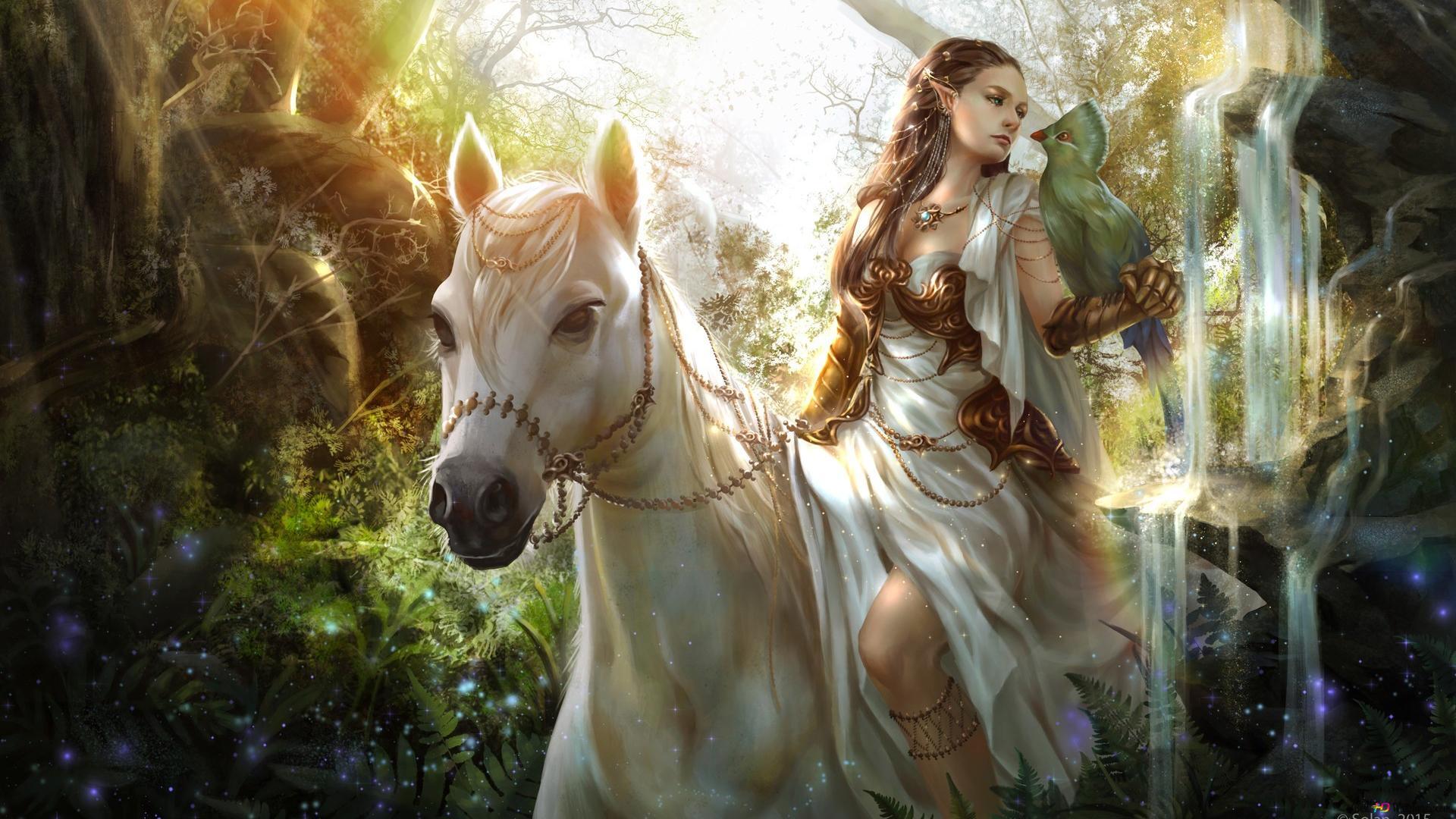 Fantasy Girl On Horse Hd Wallpaper Download