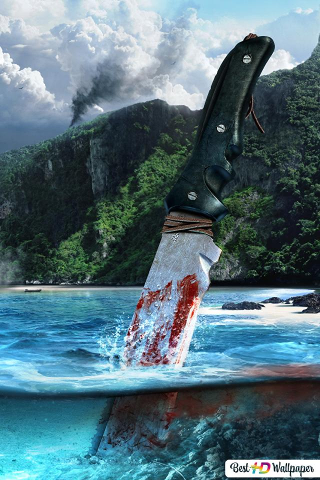 Far Cry 3 Game Blood Knife Hd Wallpaper Download