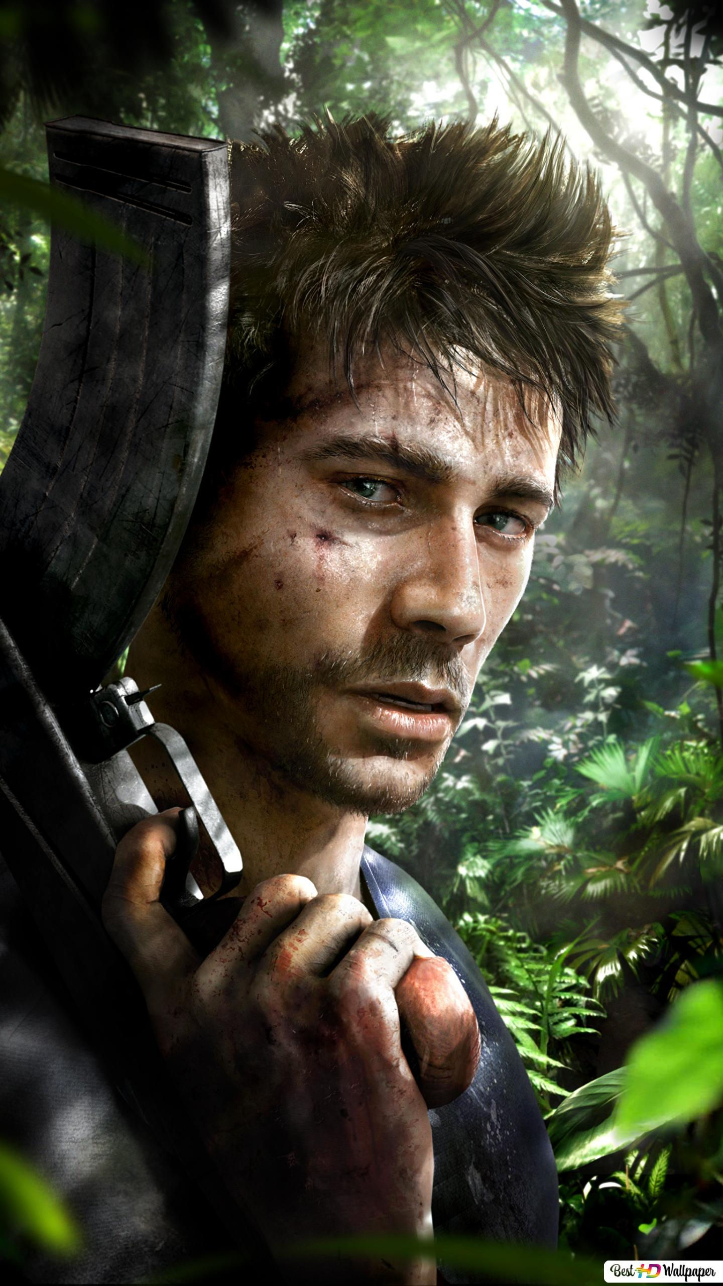 Far Cry 3 Game Man With Assault Rifle Hd Wallpaper Download