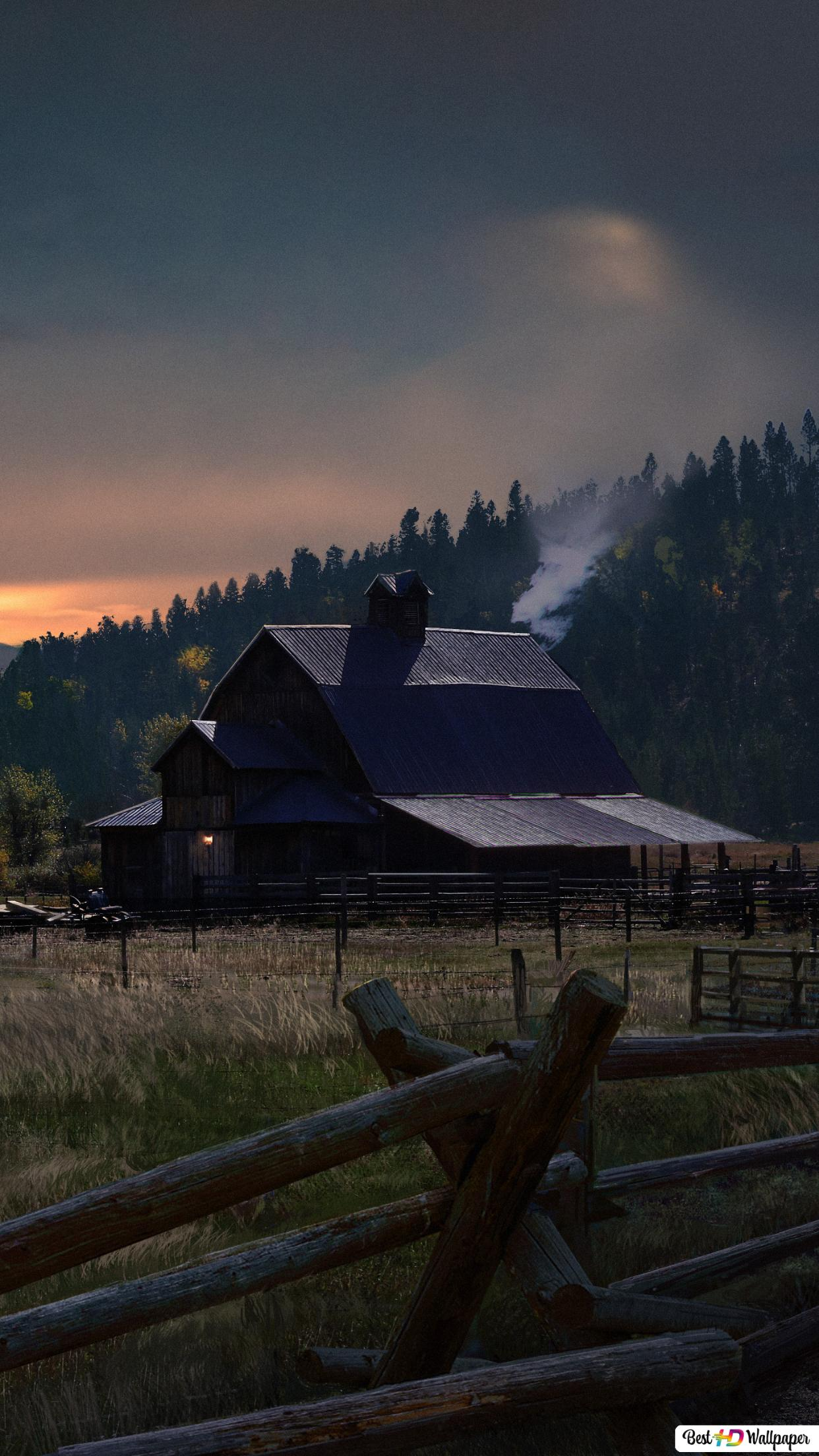 Far Cry 5 Game Sunset In The Village Hd Wallpaper Download