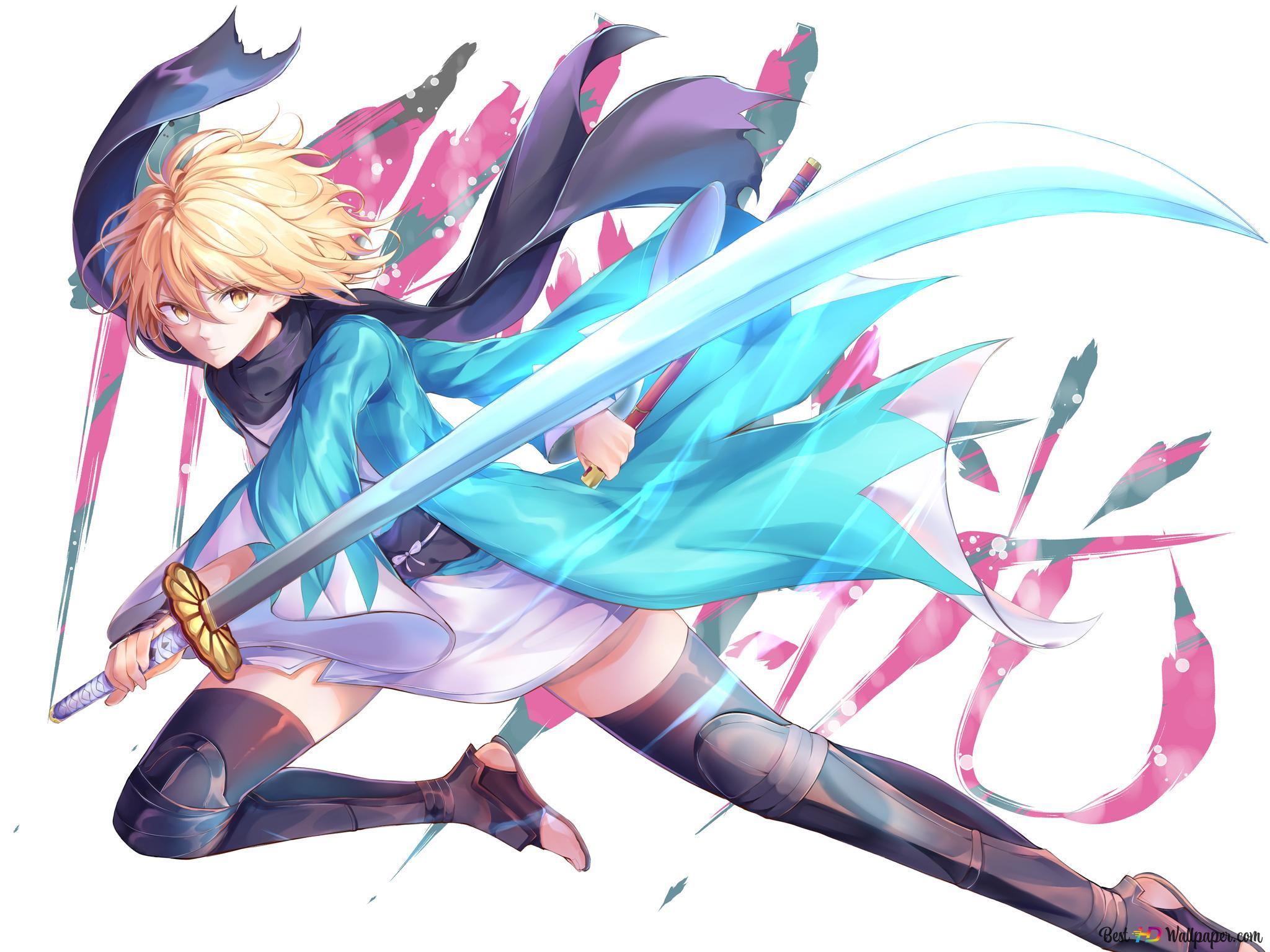 Fate Grand Order Okita Souji Hd Wallpaper Download