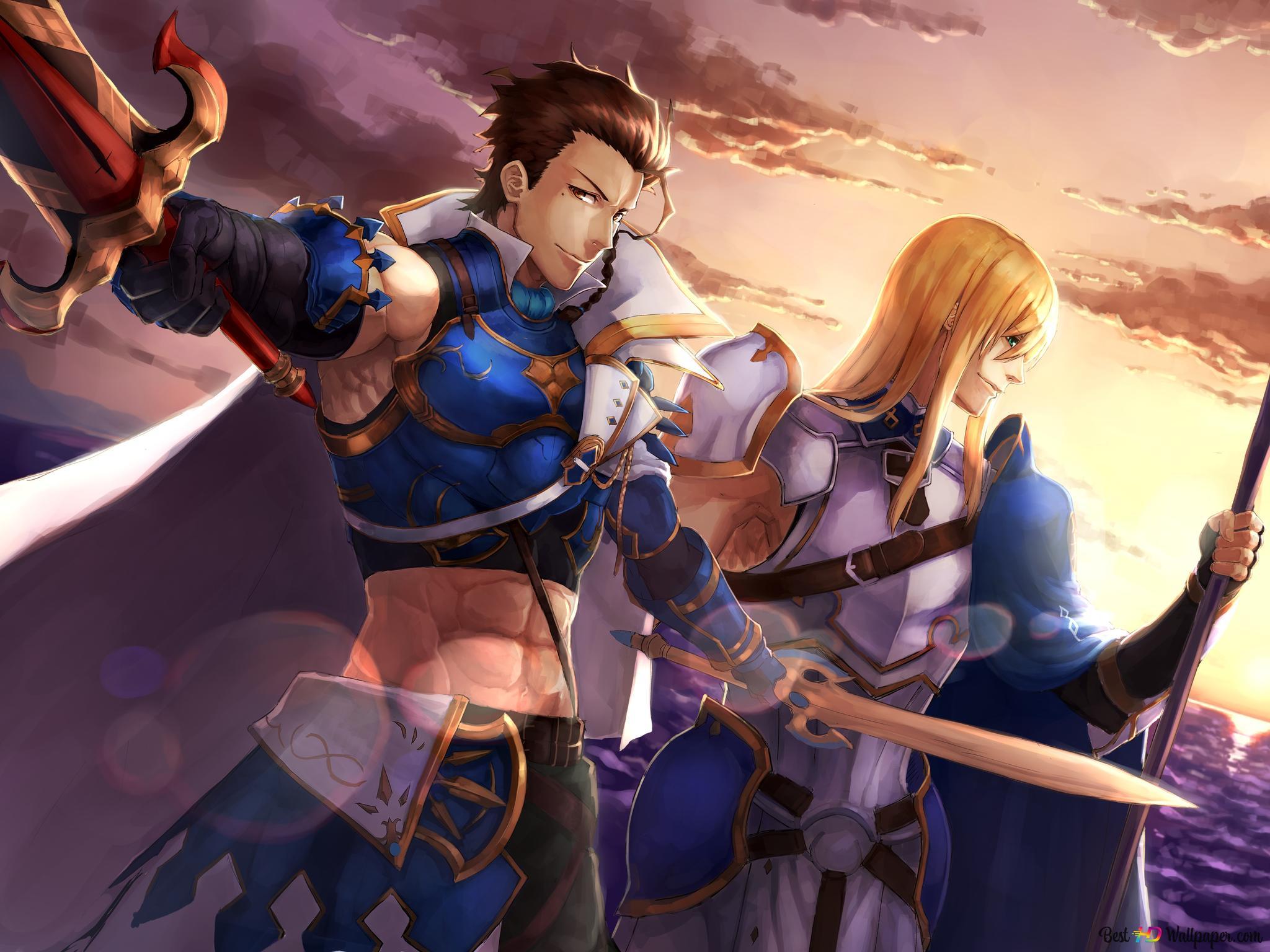Fate/Grand Order - Saber & Lancer HD wallpaper download