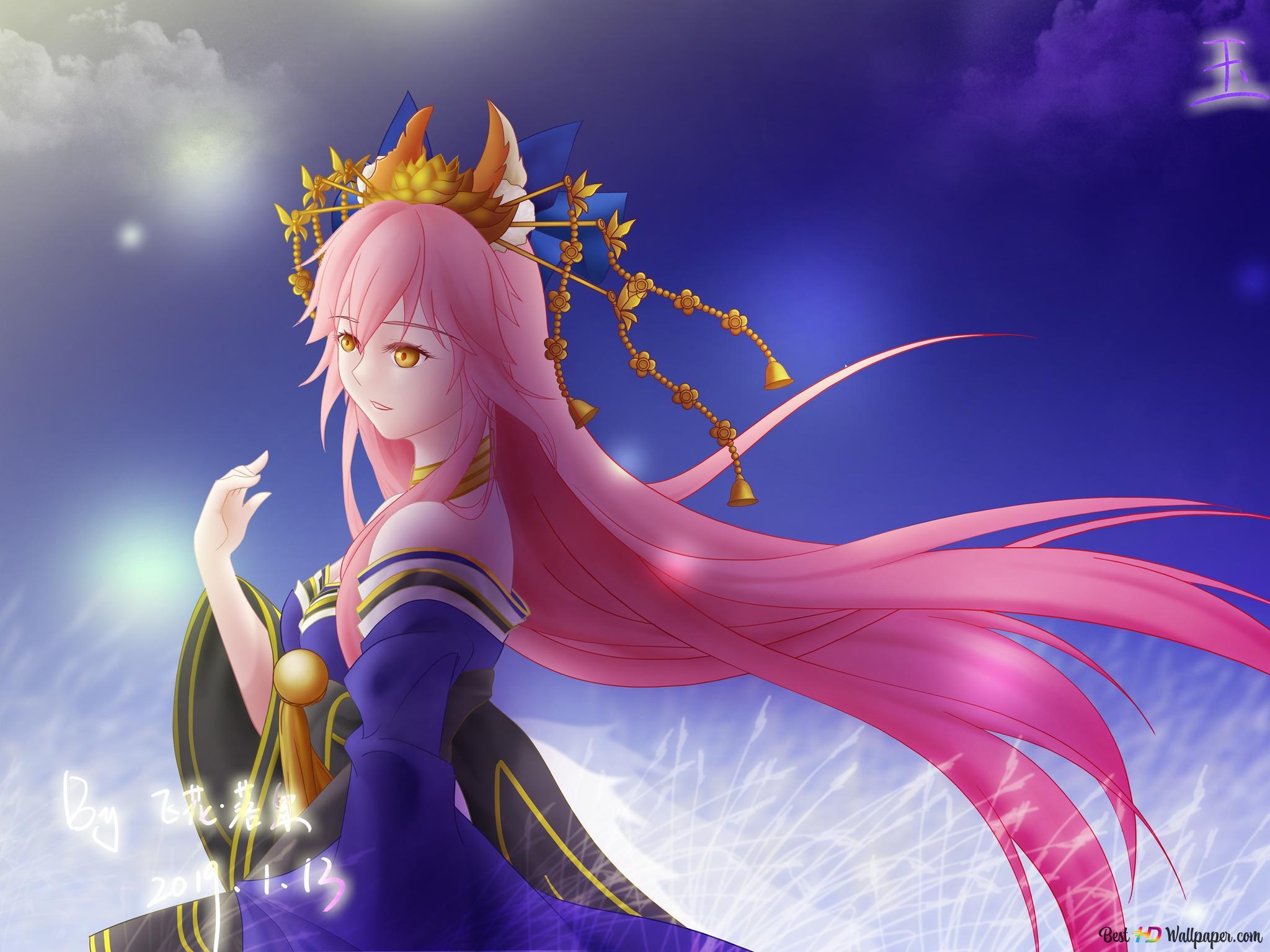 Fate Grand Order Tamamo No Mae Lancer Hd Wallpaper Download