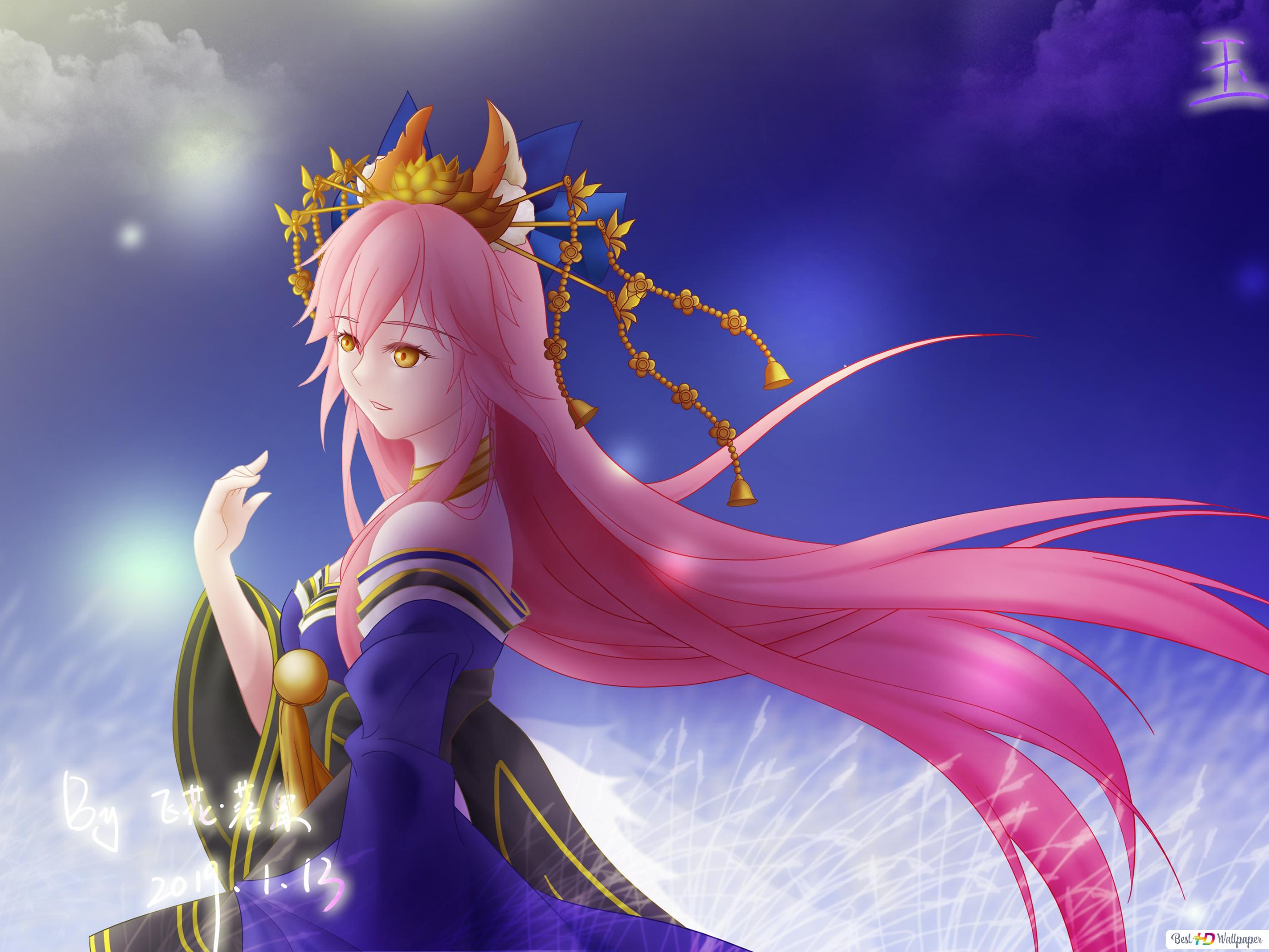 Fate Grand Order Tamamo No Mae Lancer Hd Wallpaper Download