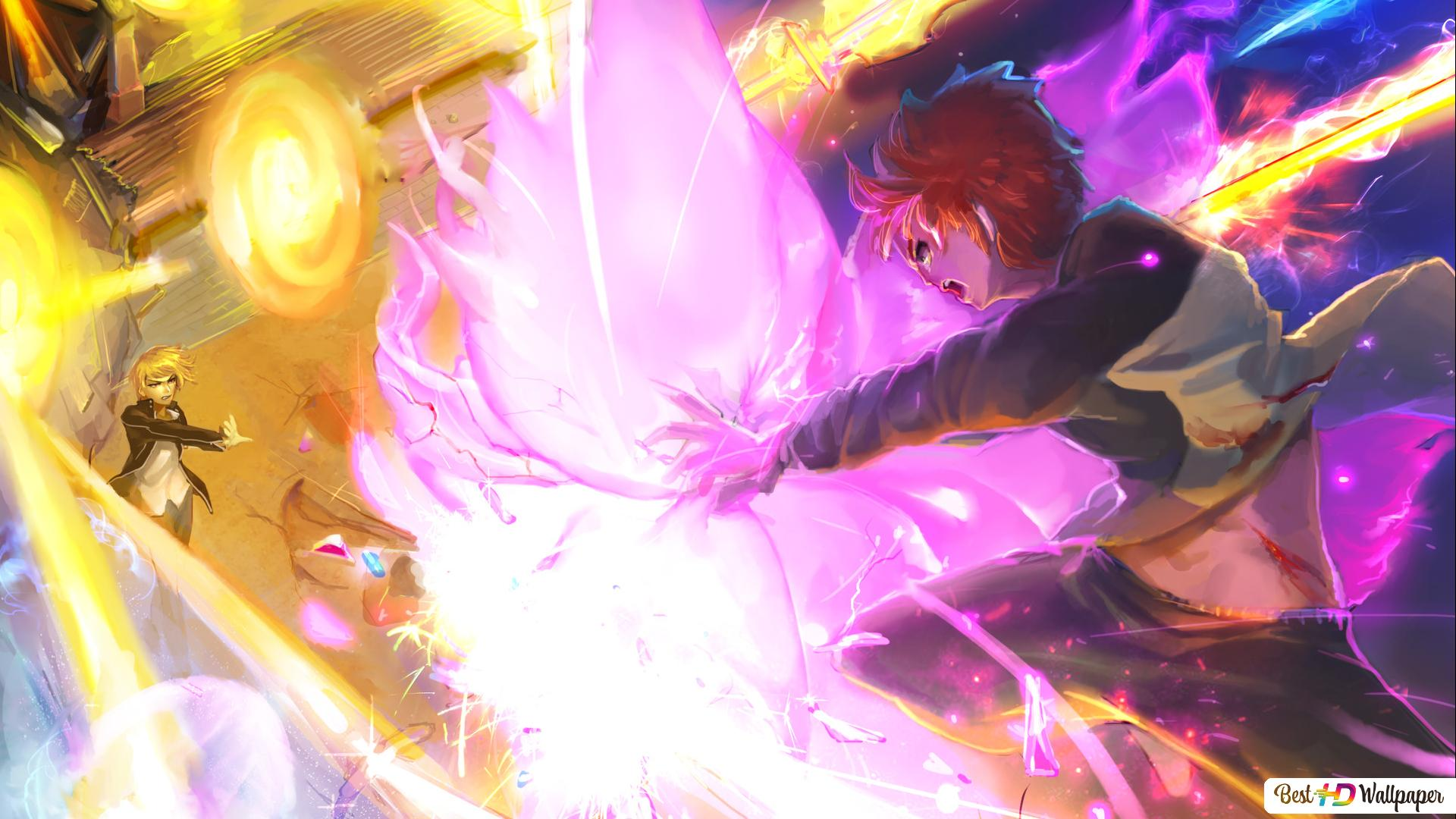 Fate Stay Night Unlimited Blade Works Gilgamesh Vs Shirou Emiya Hd Wallpaper Download