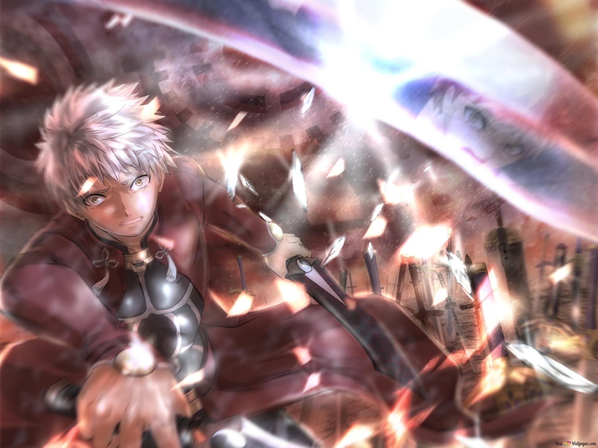 Fate Stay Night Unlimited Blade Works Shirou Emiya Vs Emiya
