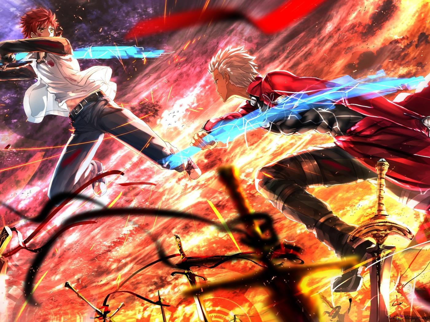Fate Stay Night Unlimited Blade Works Shirou Emiya Vs Emiya Hd