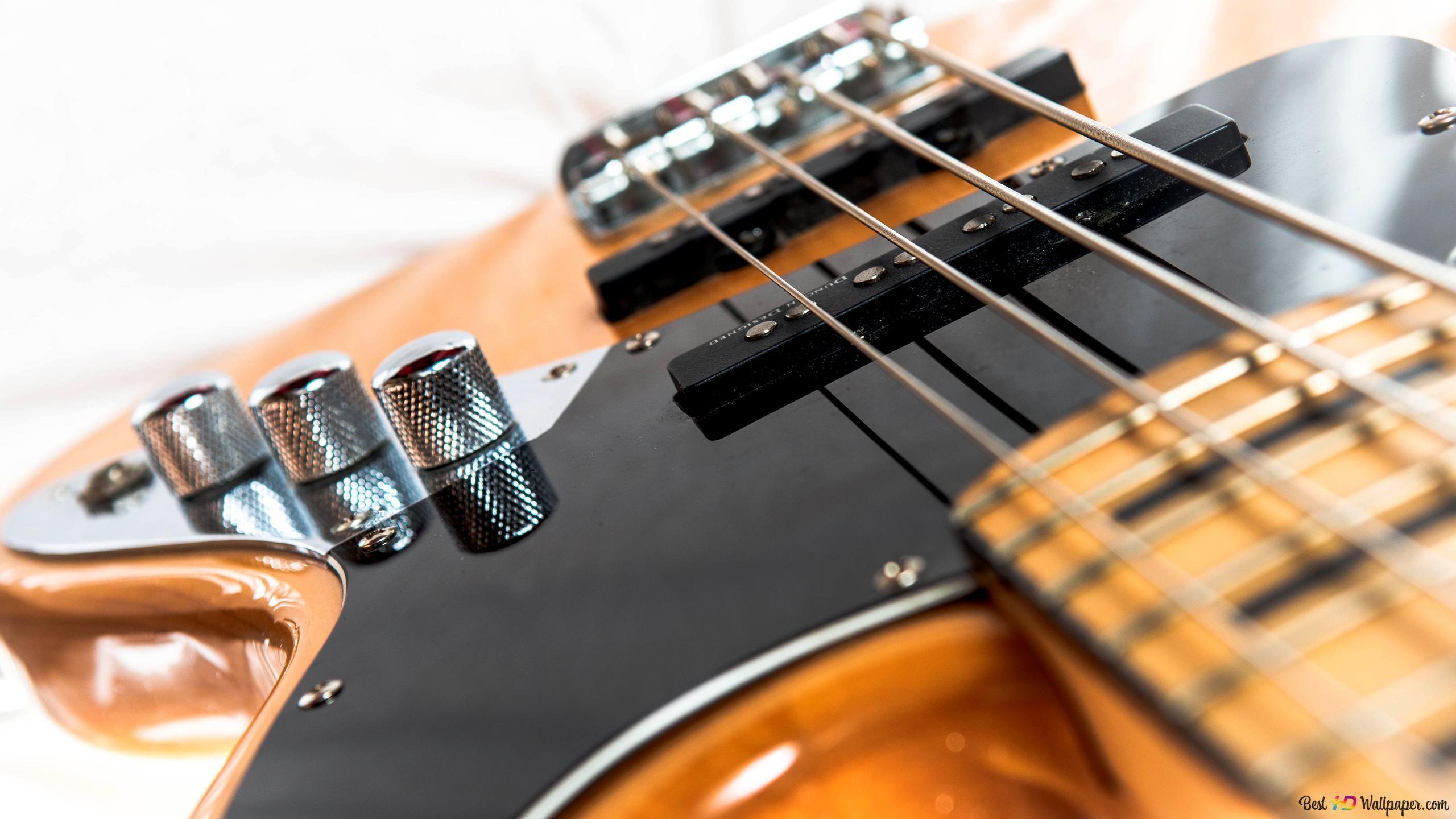 Fender Jazz Bass With A Creative Lighting Hd Wallpaper Download