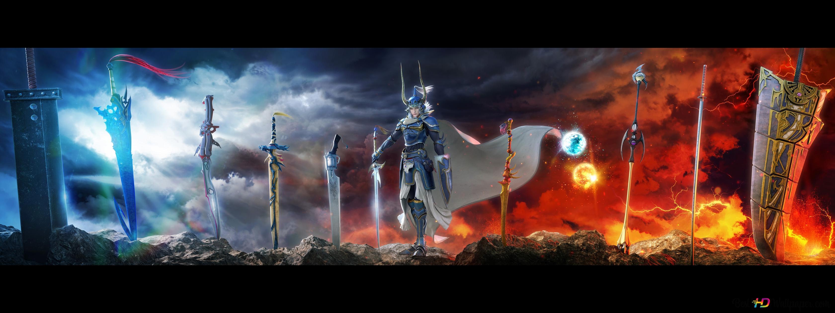 Final Fantasy Dissidia Nt Warrior Of Light Hd Wallpaper Download