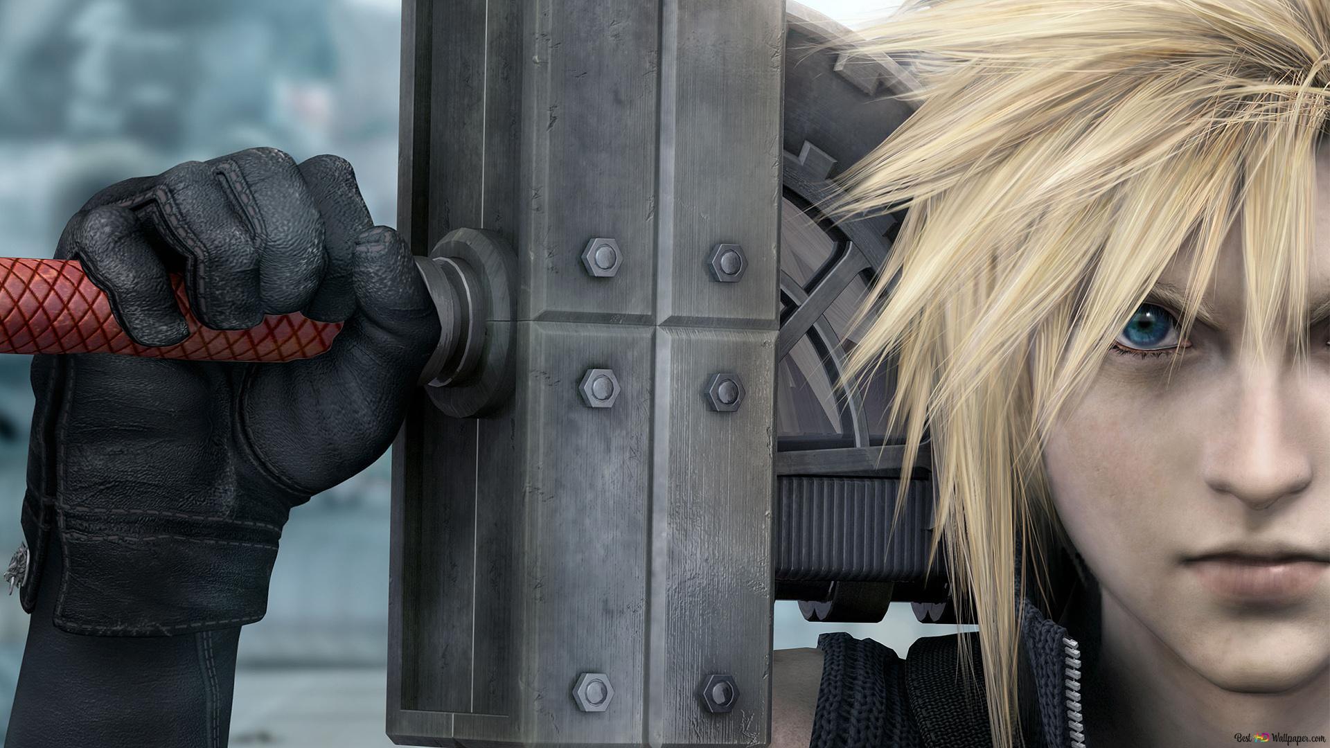 Final Fantasy Vii Advent Children Cloud Strife Fusion Sword Hd
