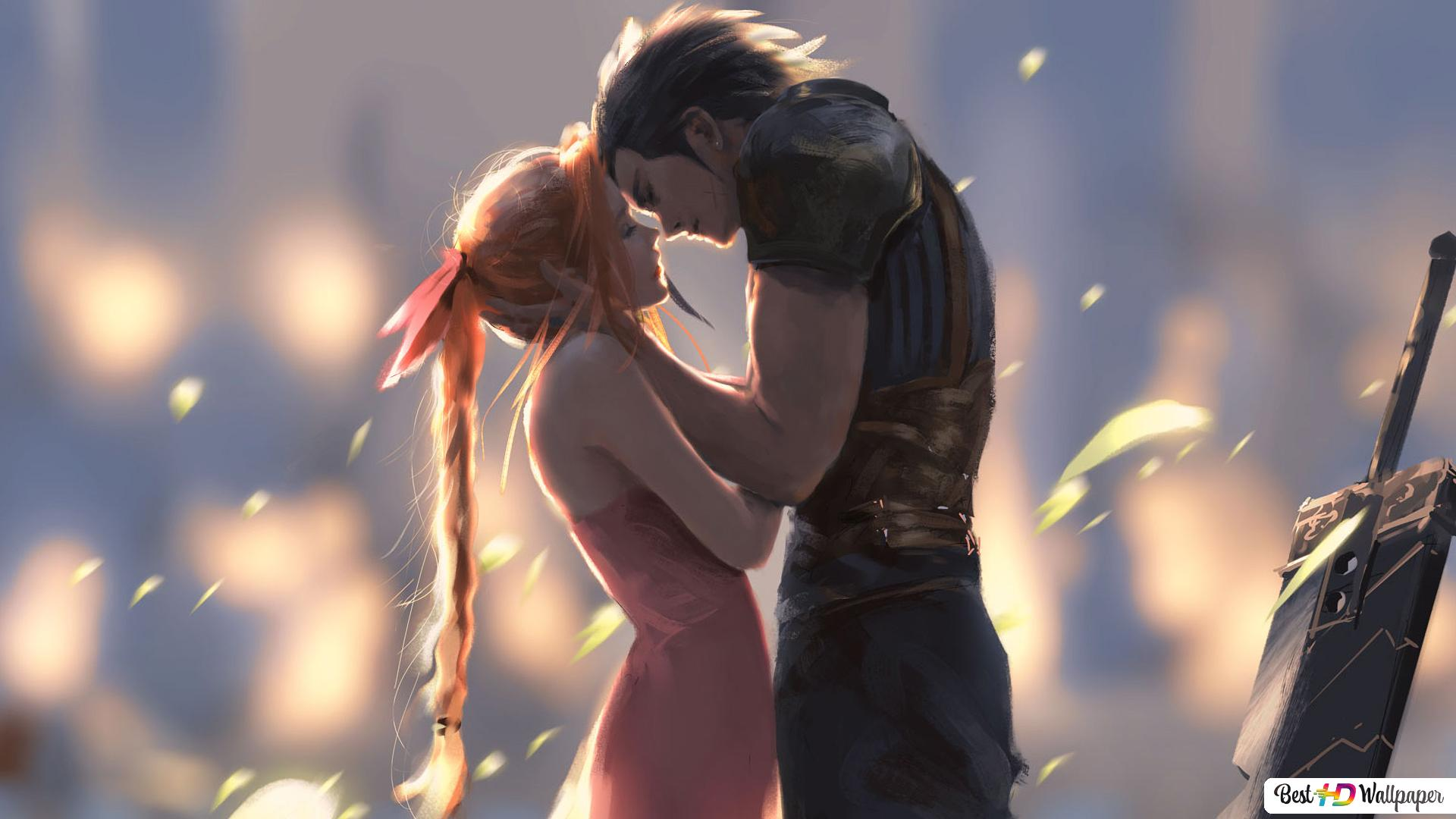 Final Fantasy Vii Zack And Aerith Hd Wallpaper Download
