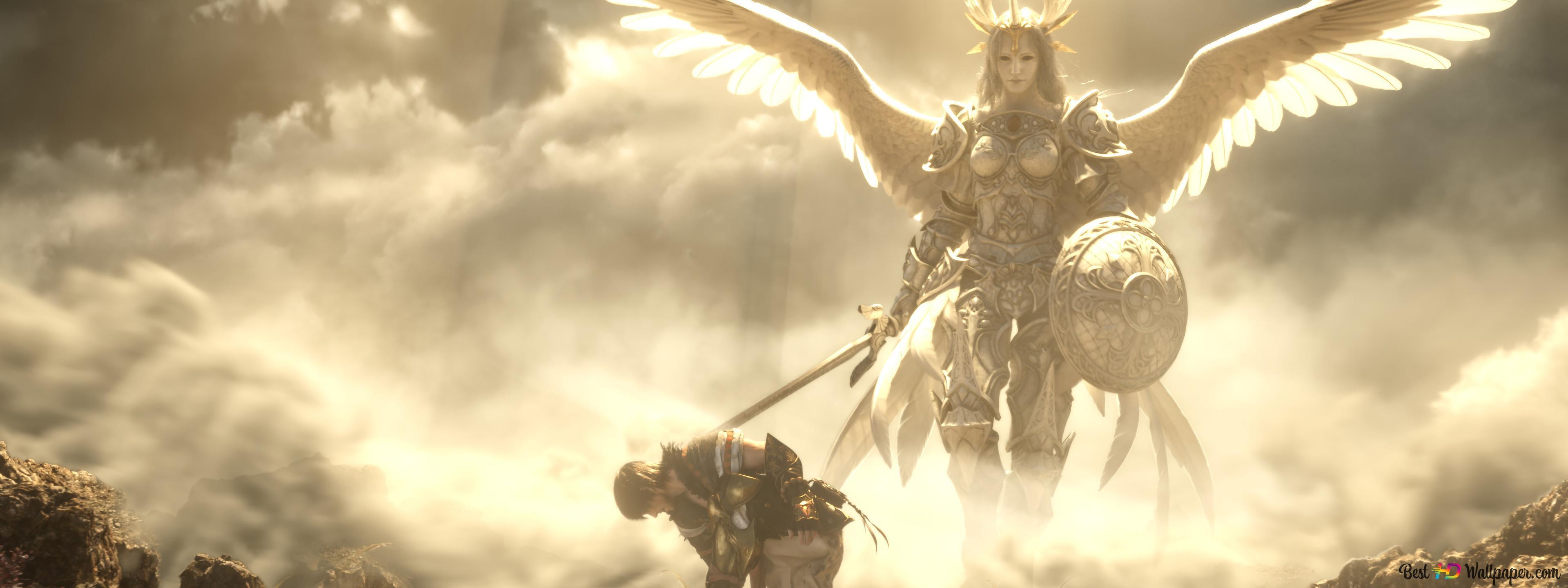 Final Fantasy Xiv Shadowbringers Samurai Angel Hd Wallpaper