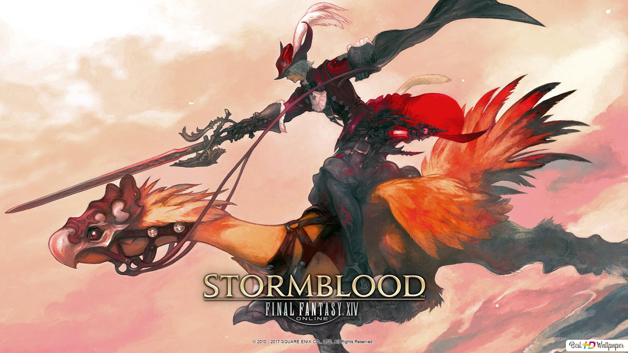 Final Fantasy Xiv Stormblood Red Mage Chocobo Hd Wallpaper Download
