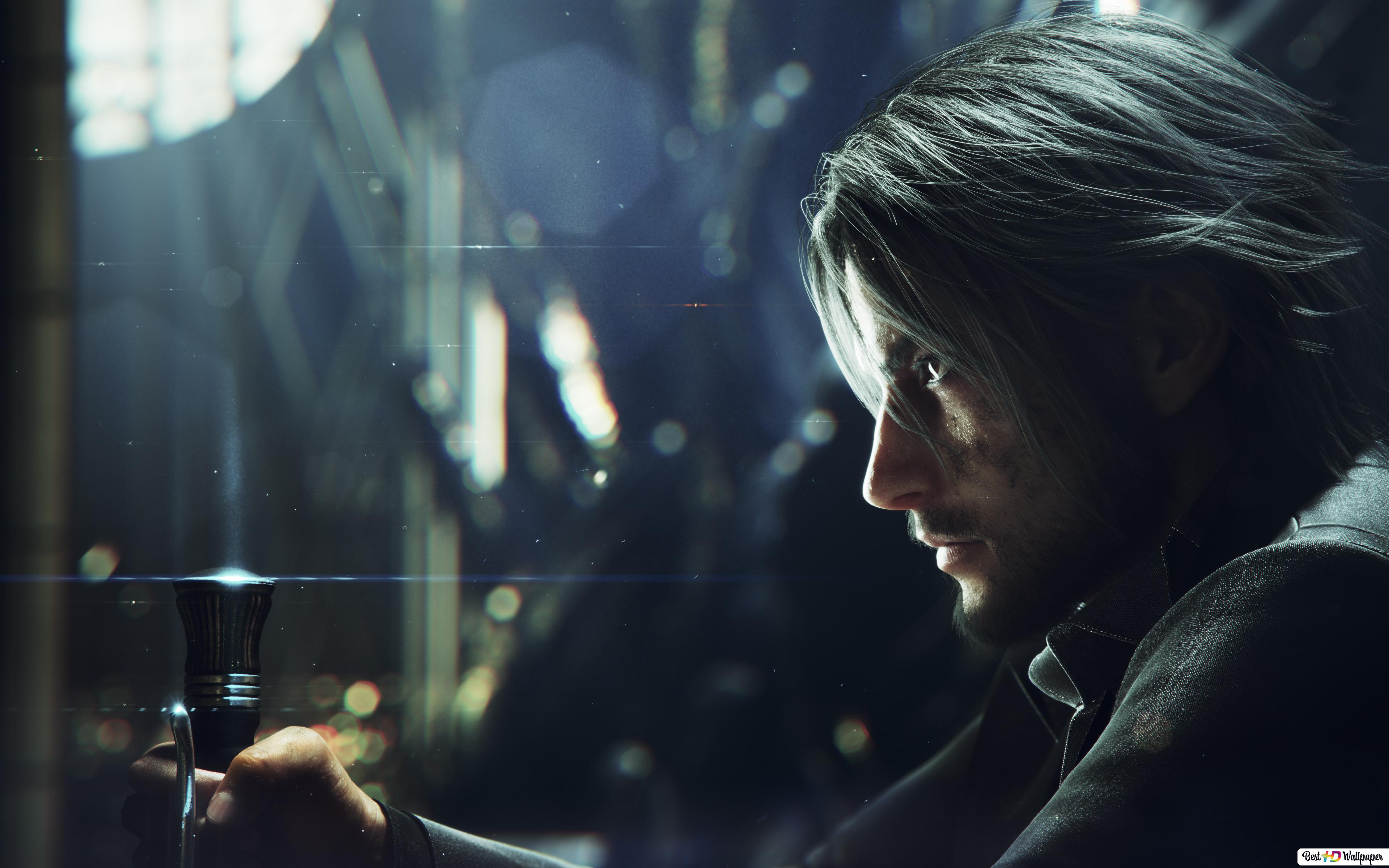Final Fantasy Xv Prince Noctis On His Throne Hd Wallpaper Download